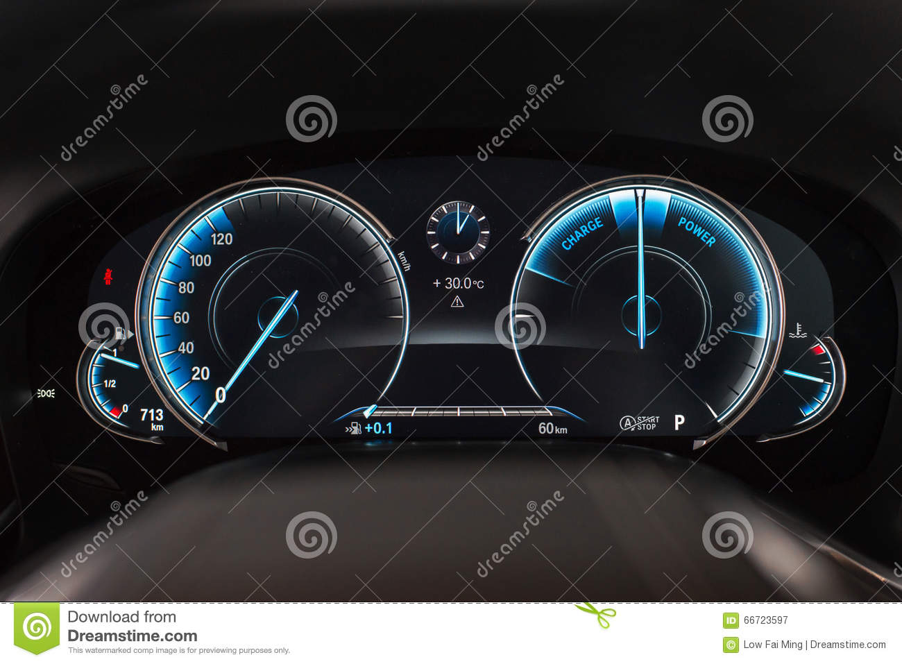 Bmw 7 Series Speedometer Stock Image Image Of Adjustable