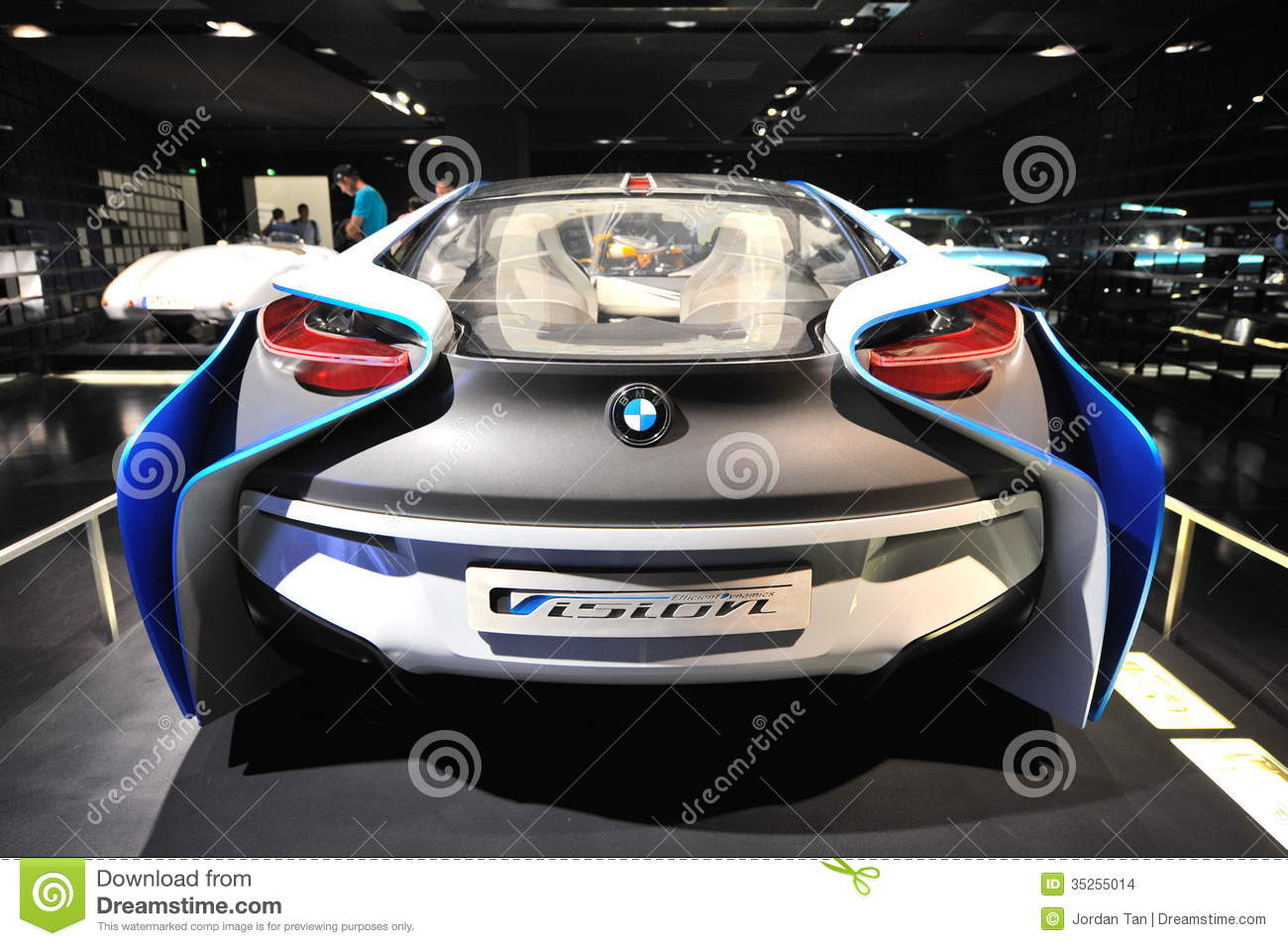 bmw vision efficient dynamics concept car on display in bmw museum editorial stock image image. Black Bedroom Furniture Sets. Home Design Ideas