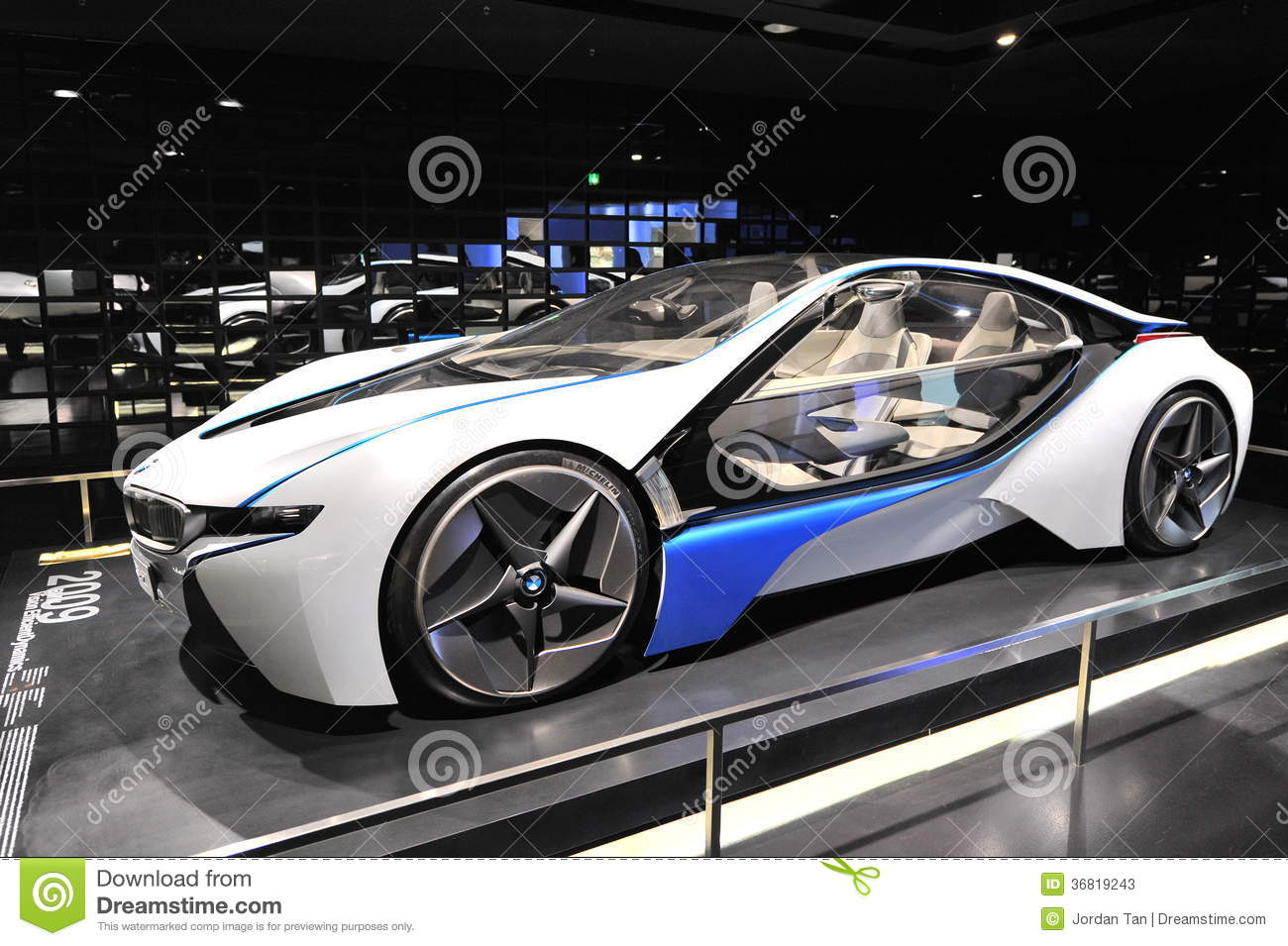 bmw vision efficient dynamics concept car editorial photo 21296687. Black Bedroom Furniture Sets. Home Design Ideas