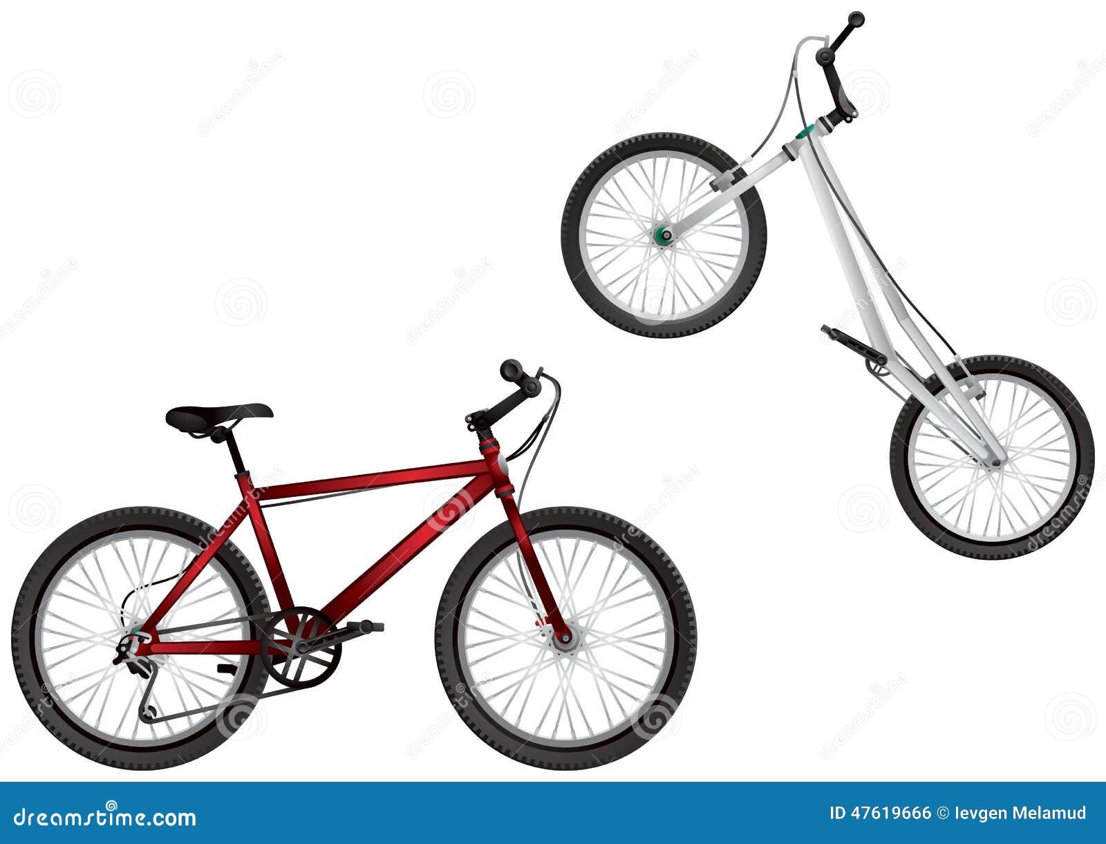 Bmx Bike Mountain Bike Extreme Sport Bicycles Stock Vector