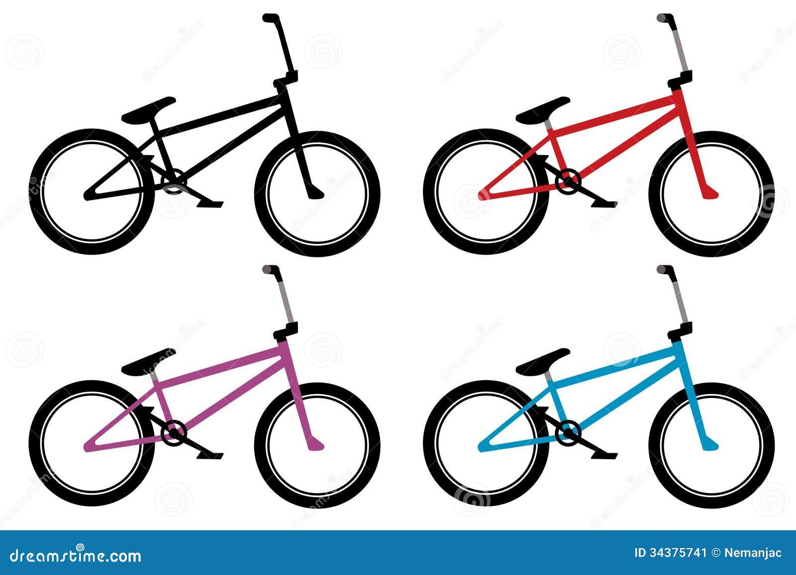 Bmx bike set stock vector. Illustration of biking, pedal ...