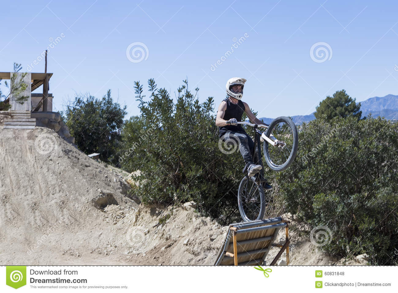 BMX cyclist jumping stock photo. Image of ride, rider ...