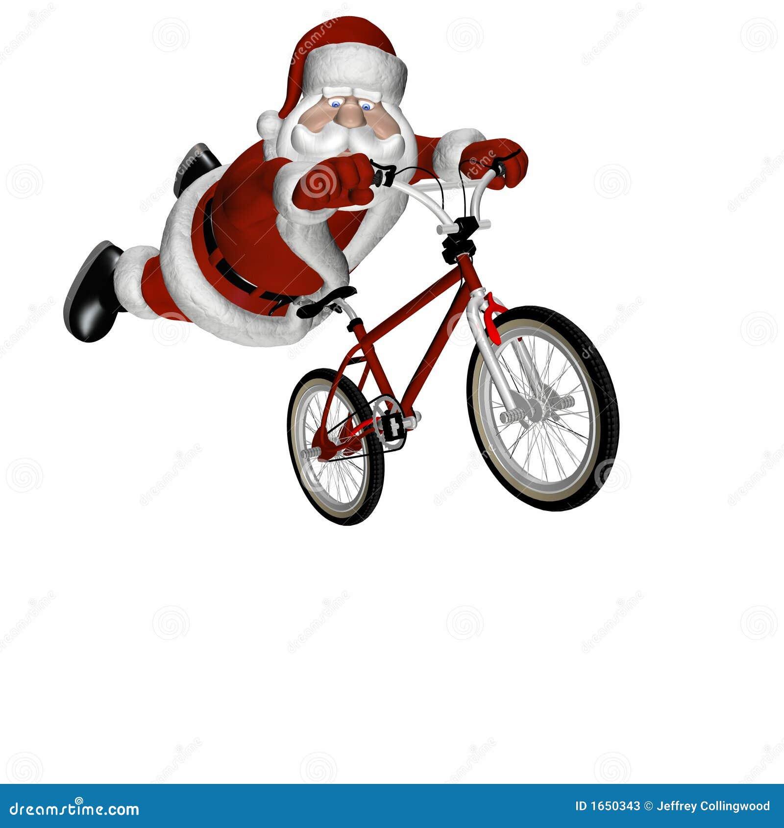 Bmx Santa 3 Stock Photos Image 1650343