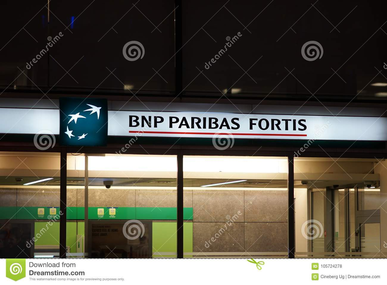 BNP Paribas Fortis Bank nch In Brussels Editorial Stock Photo ... on