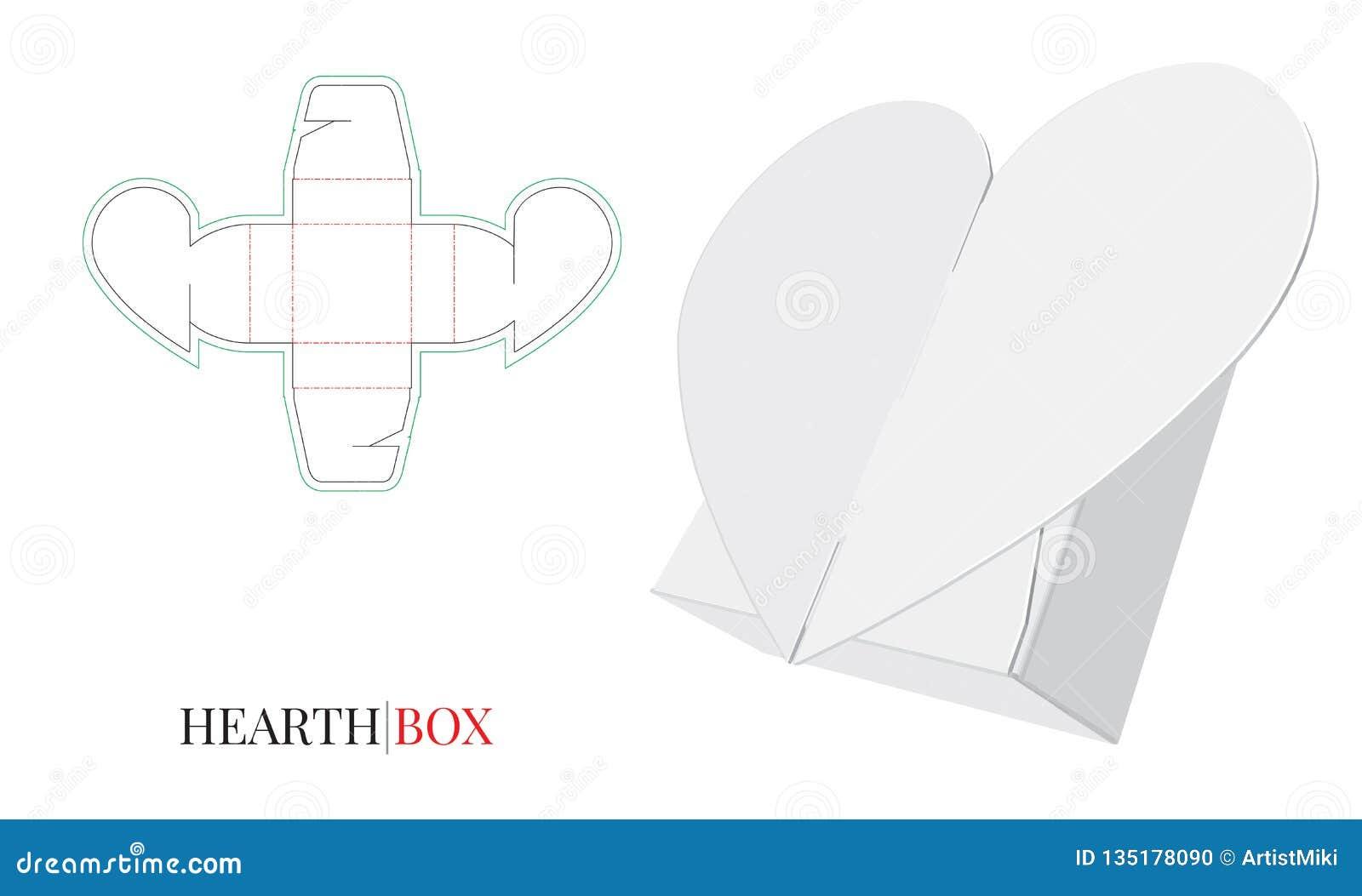 Boîte à sucrerie, coeur de boîte-cadeau, individu fermant à clef l illustration de boîte, conception d emballage