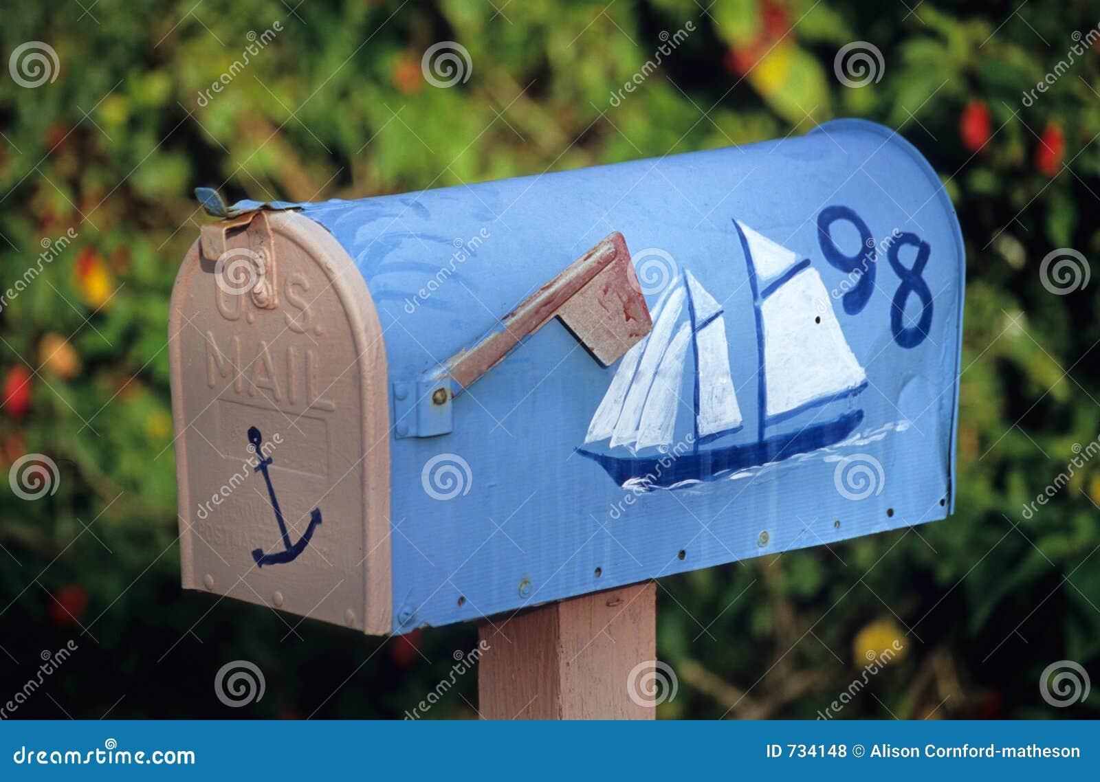 Boîte aux lettres de bateau à voiles