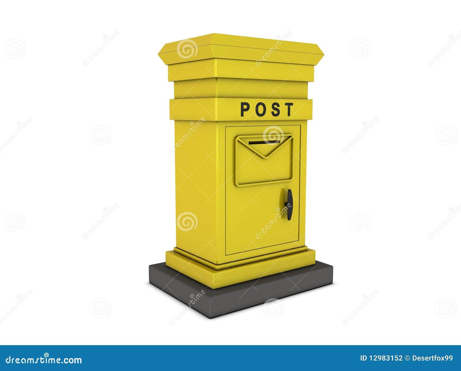 bo te aux lettres jaune photographie stock image 12983152. Black Bedroom Furniture Sets. Home Design Ideas
