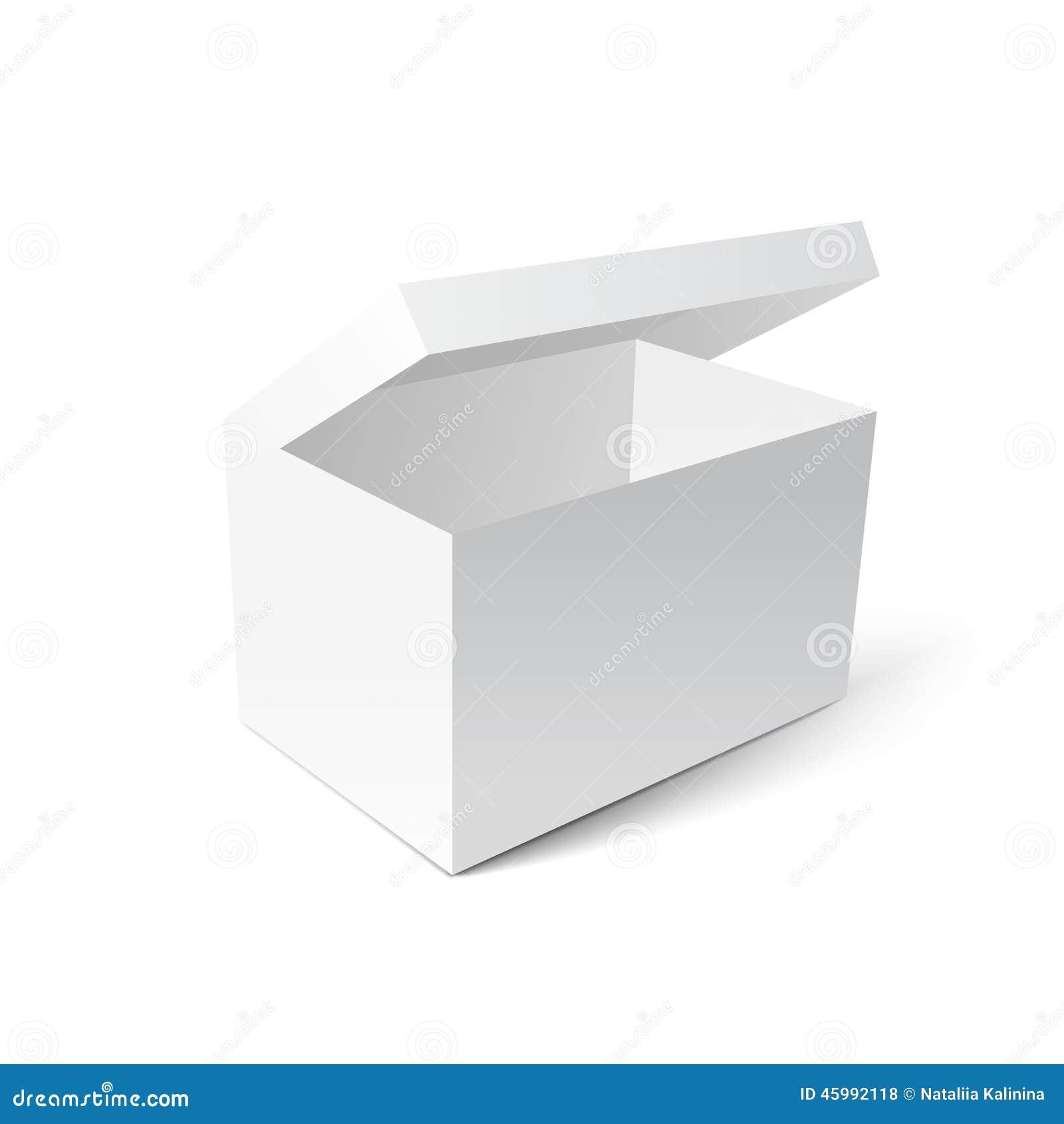 bo te blanche de carton de cadeau illustration de vecteur image 45992118. Black Bedroom Furniture Sets. Home Design Ideas