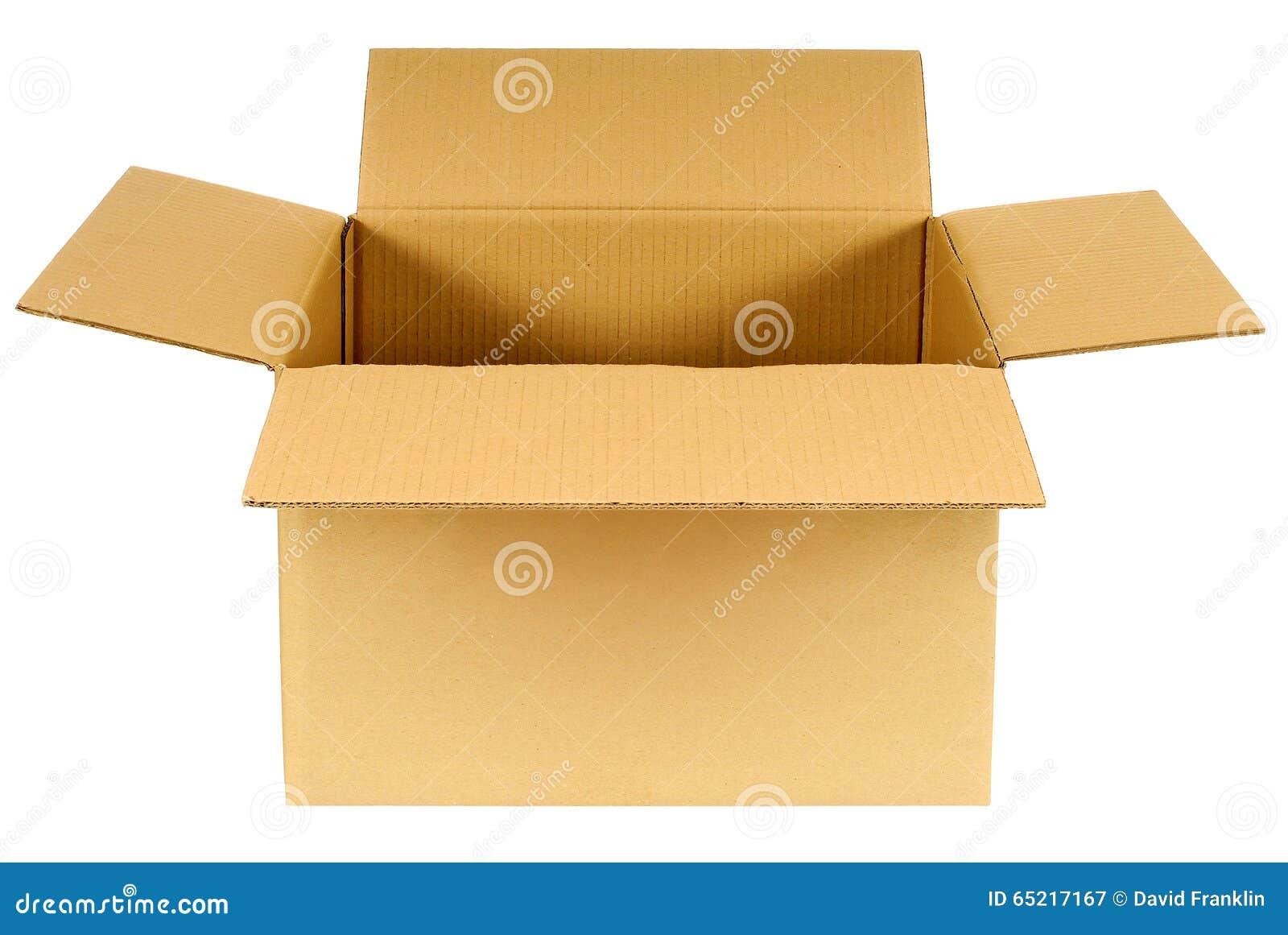 bo te bo te en carton vide brune simple ouverte d 39 isolement sur le fond blanc image stock. Black Bedroom Furniture Sets. Home Design Ideas
