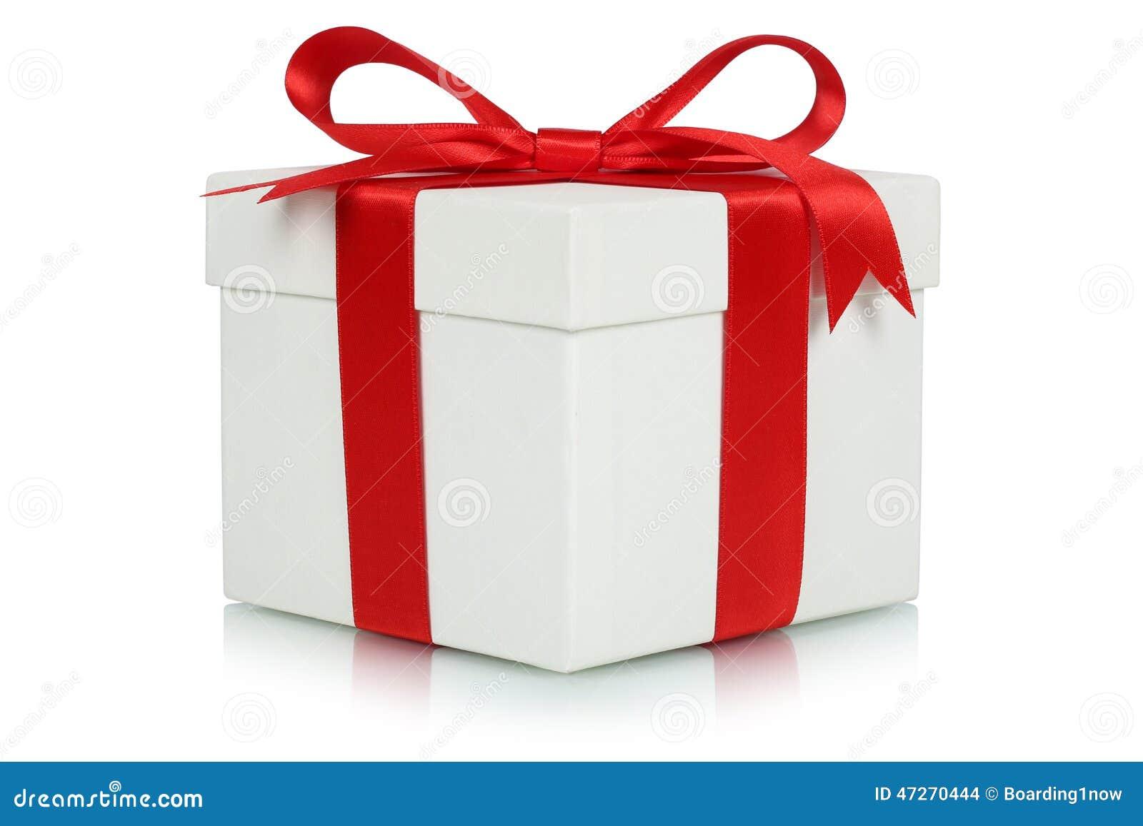Boîte-cadeau avec l arc pour des cadeaux sur Noël, l anniversaire ou les valentines