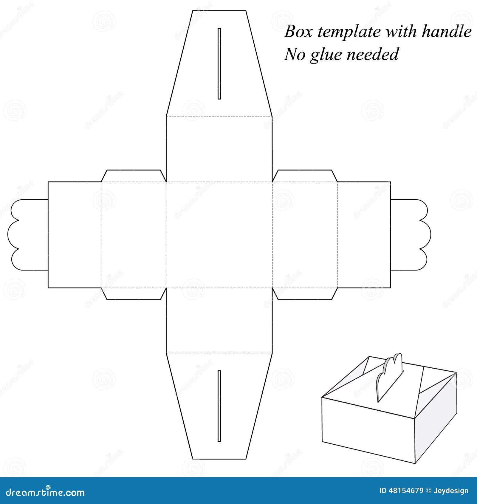 Boite Cadeau Avec La Poignee Sans Collage Illustration De Vecteur