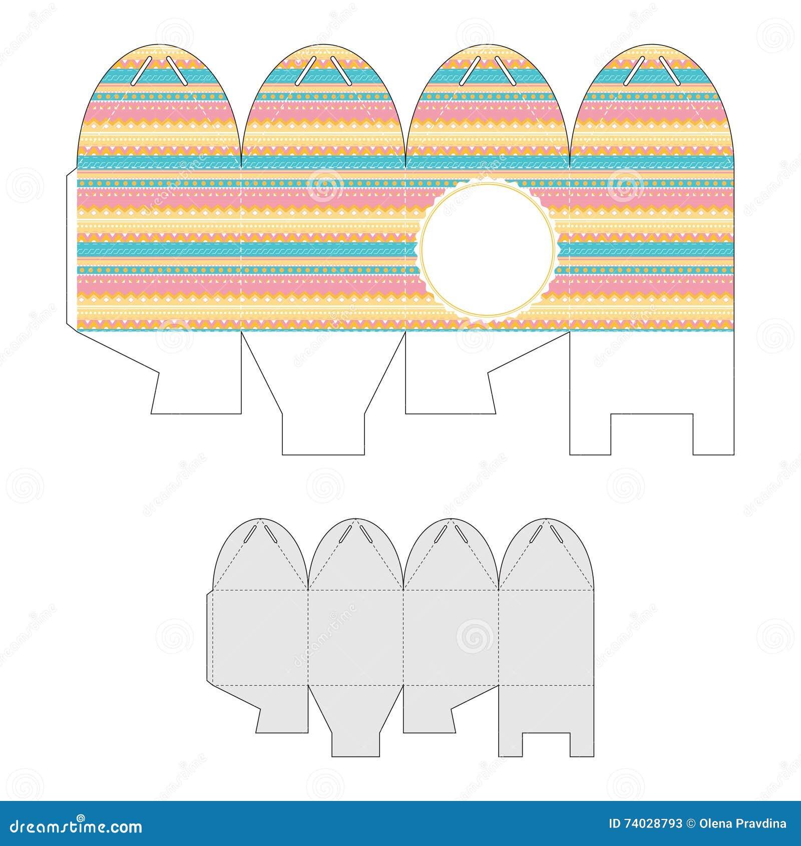 Boîte-cadeau décoratif avec un modèle géométrique Bonbonniere