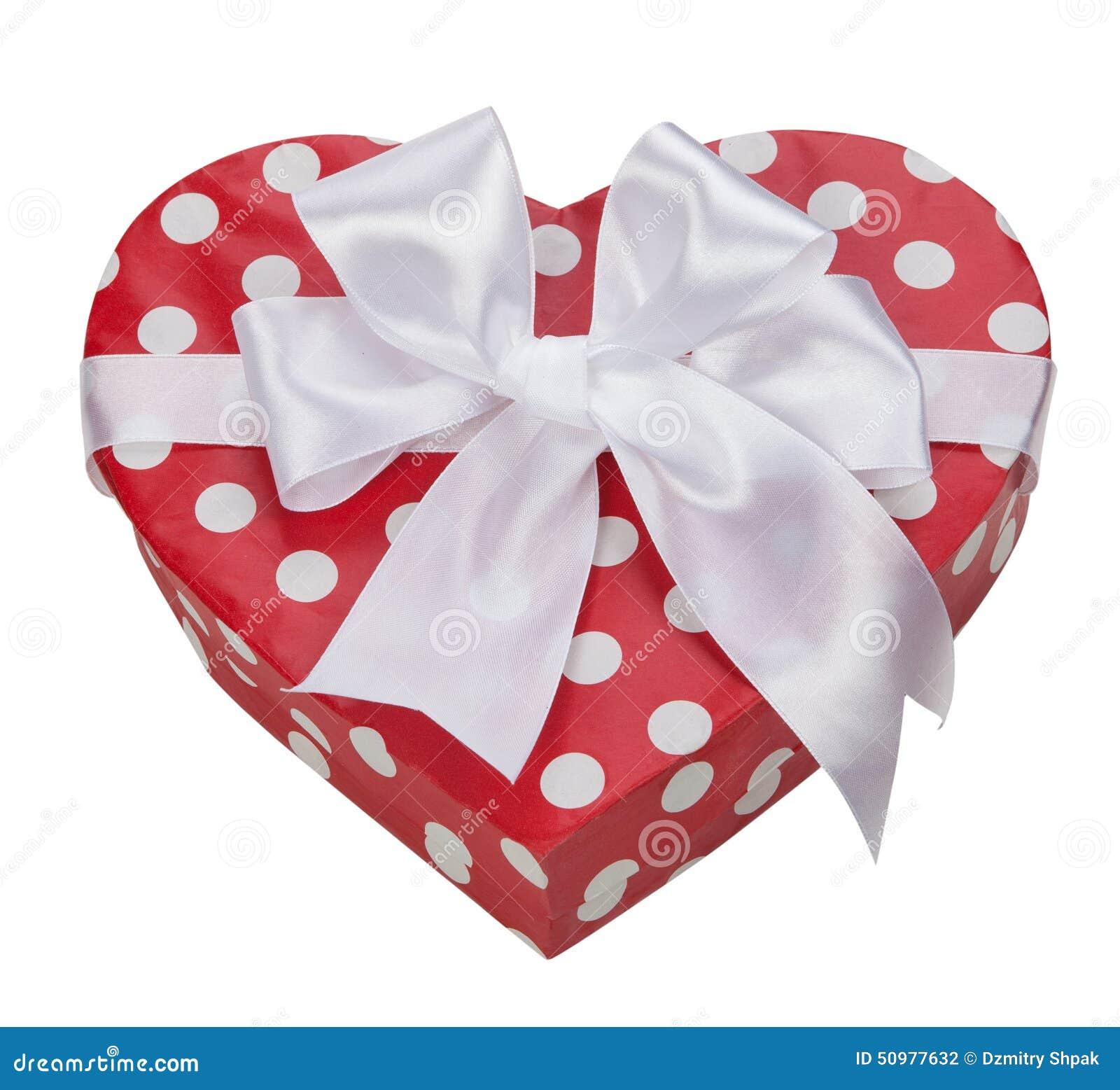 Boîte-cadeau dans la forme de coeur avec l arc