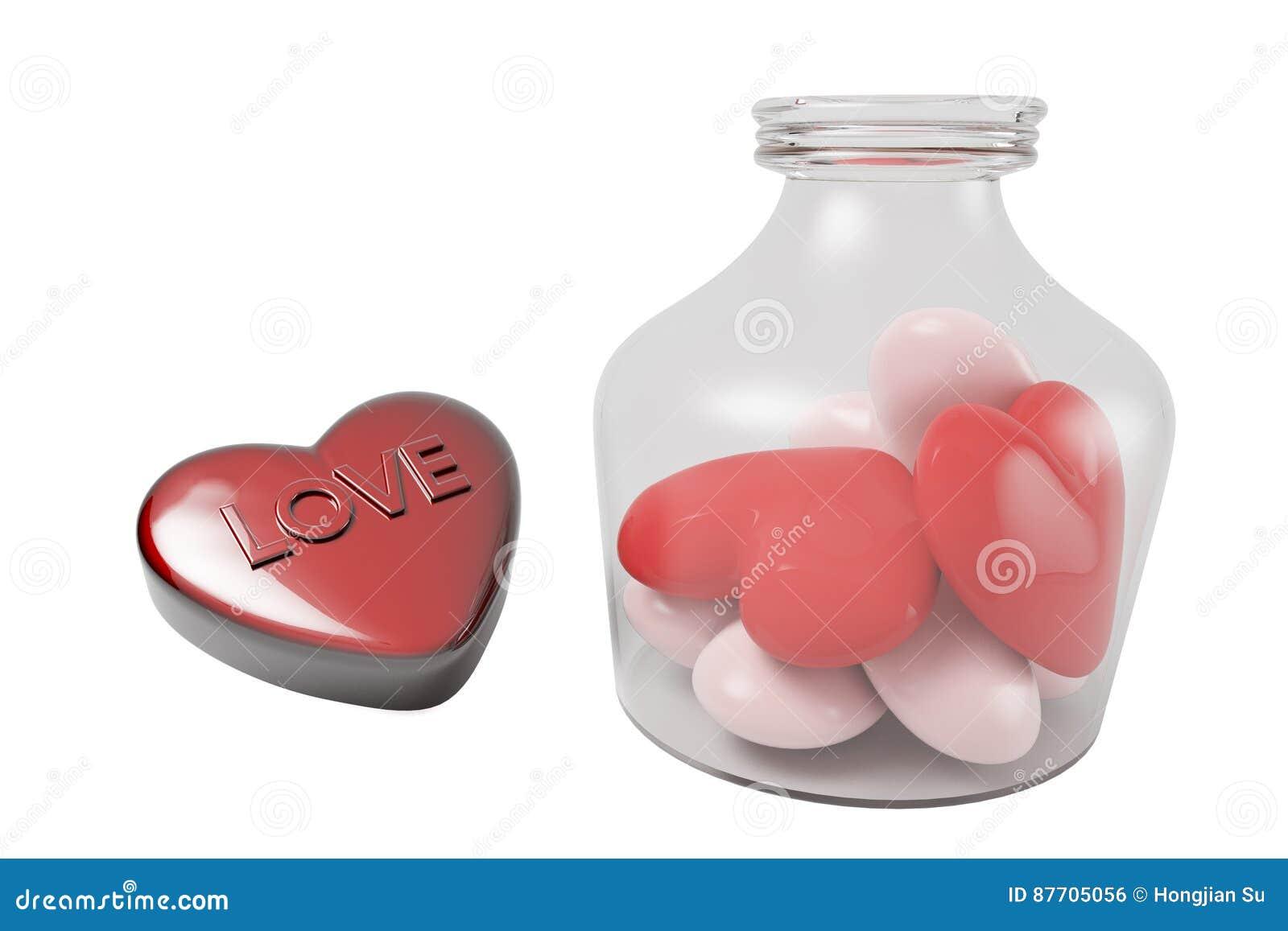 Boîte-cadeau de coeur et de bouteille