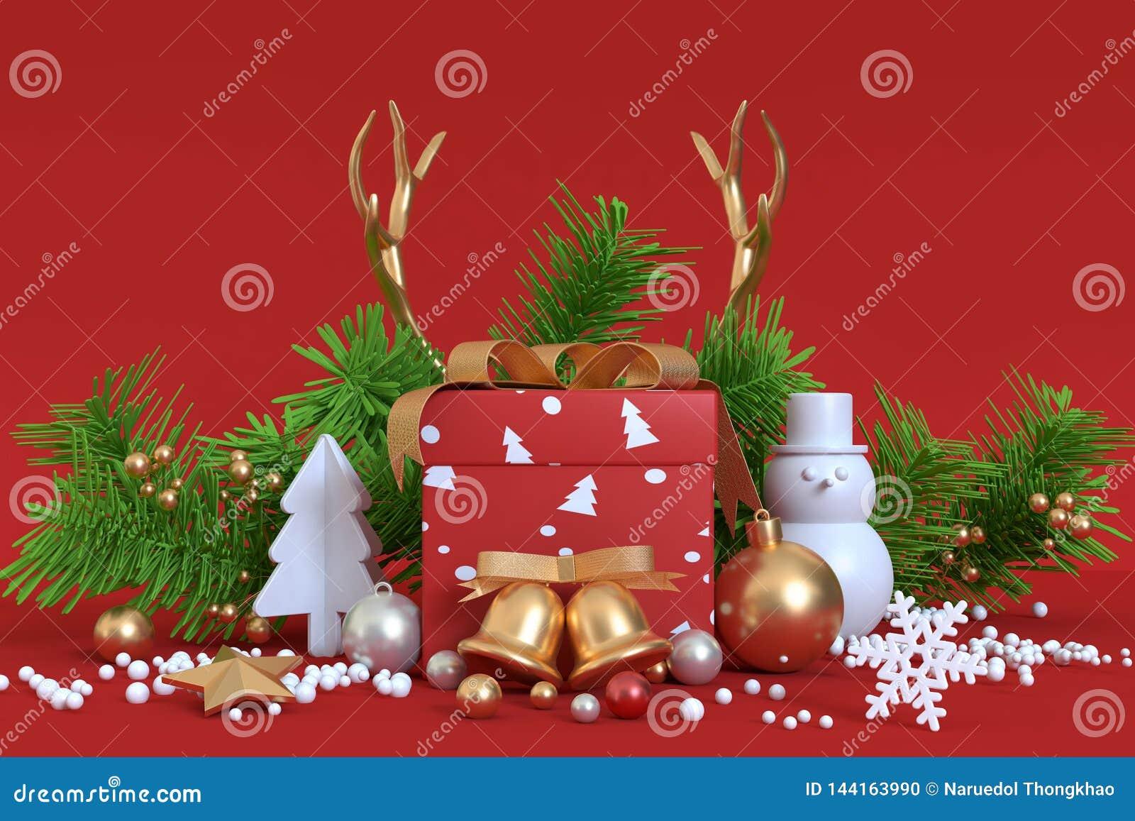 Boîte-cadeau de fond de décoration-Noël de Noël d objet abstrait