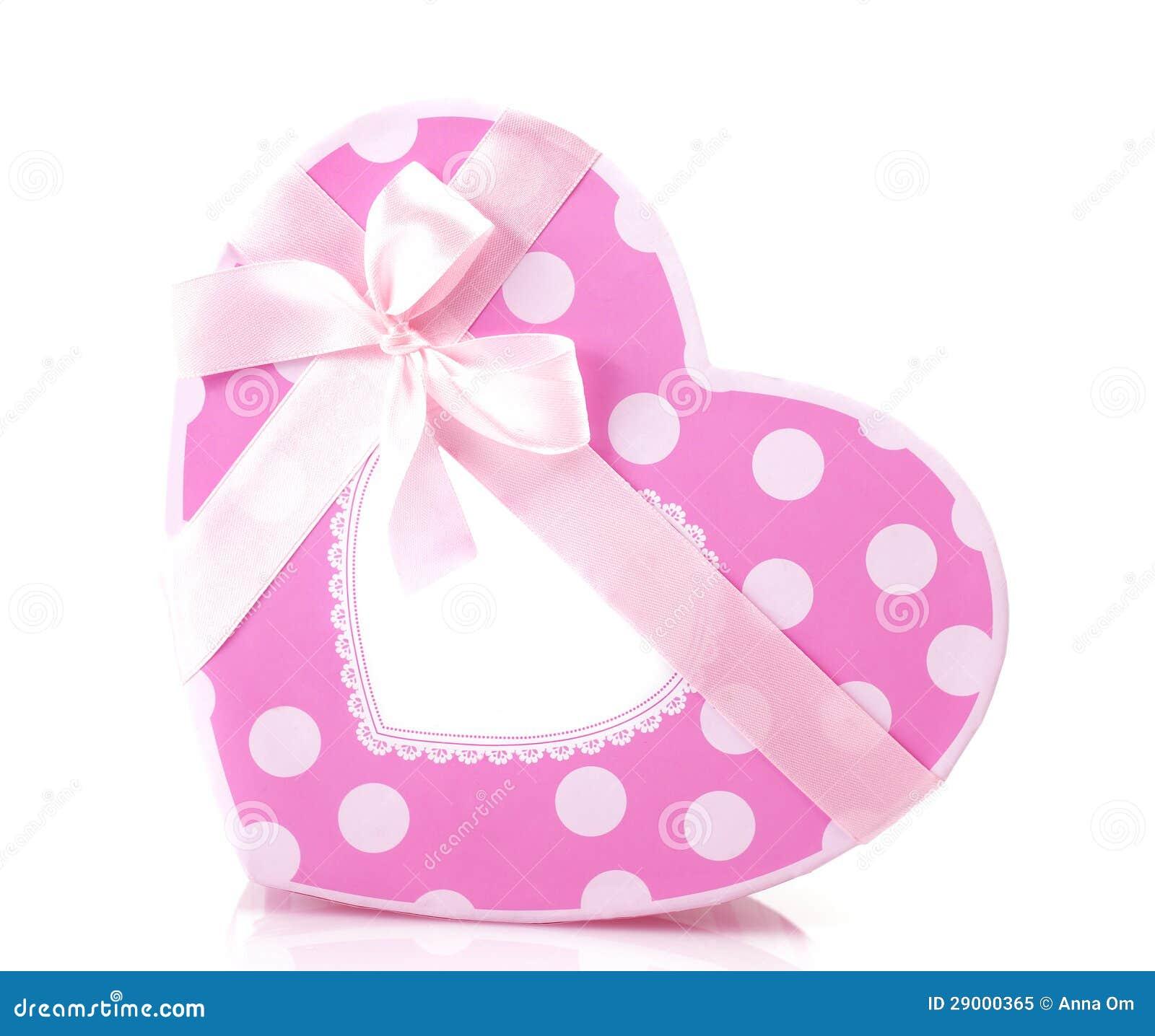 bo te cadeau en forme de coeur rose photo libre de droits image 29000365. Black Bedroom Furniture Sets. Home Design Ideas