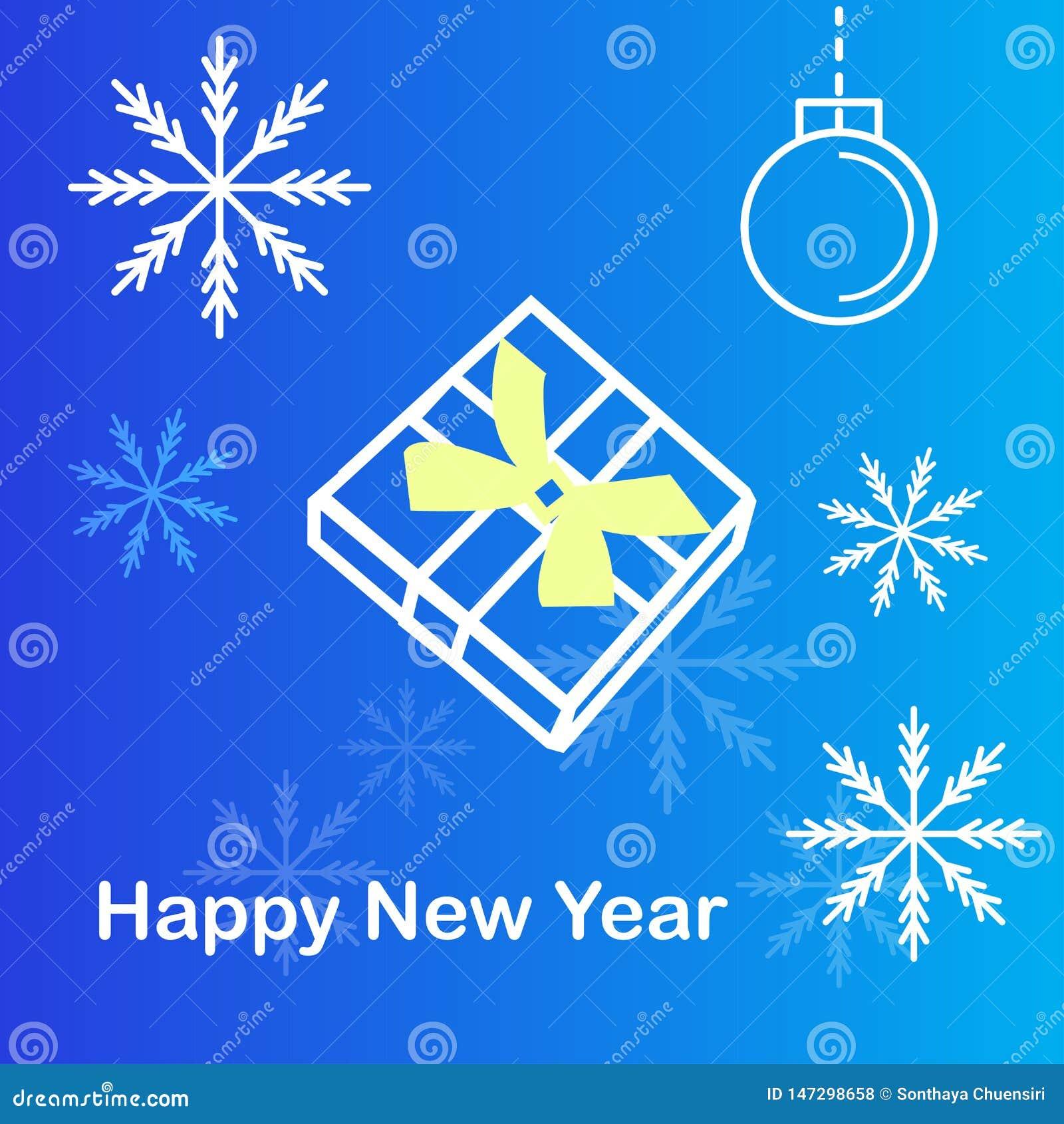 Boîte-cadeau et flocon de neige à l arrière-plan bleu