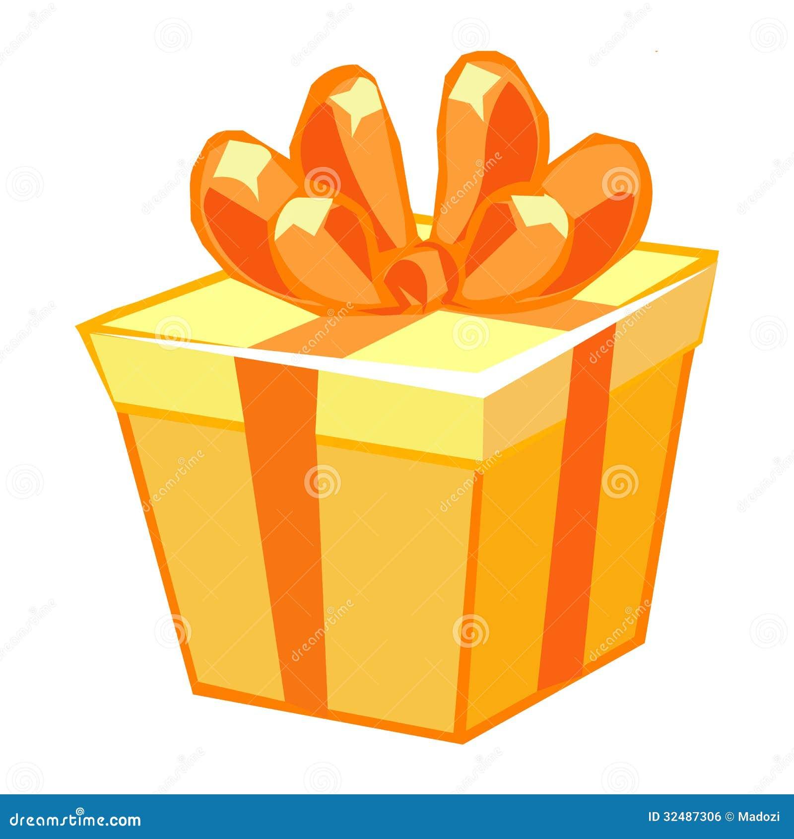 bo te cadeau orange illustration de vecteur image du c l bration 32487306. Black Bedroom Furniture Sets. Home Design Ideas