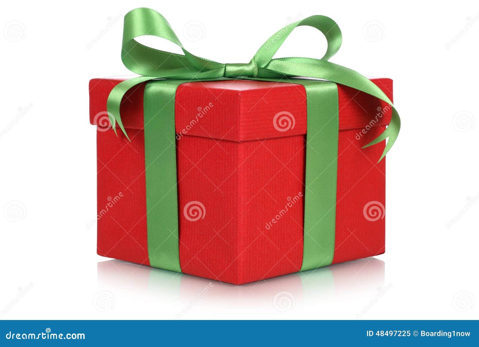Boîte De Cadeau Le Jour De Noël Clip Art: Boîte-cadeau Rouge Pour Des Cadeaux Noël, L'anniversaire