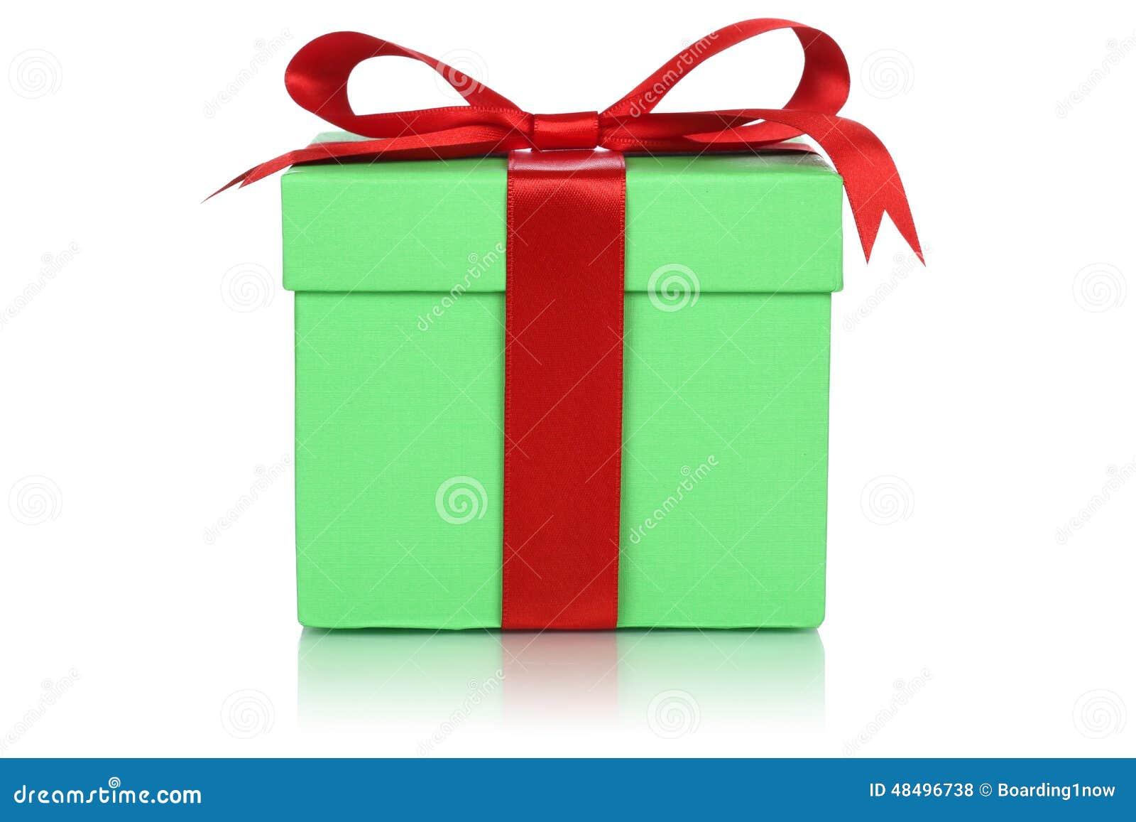 bo te cadeau vert pour des cadeaux sur no l l 39 anniversaire ou les valentines da photo stock. Black Bedroom Furniture Sets. Home Design Ideas