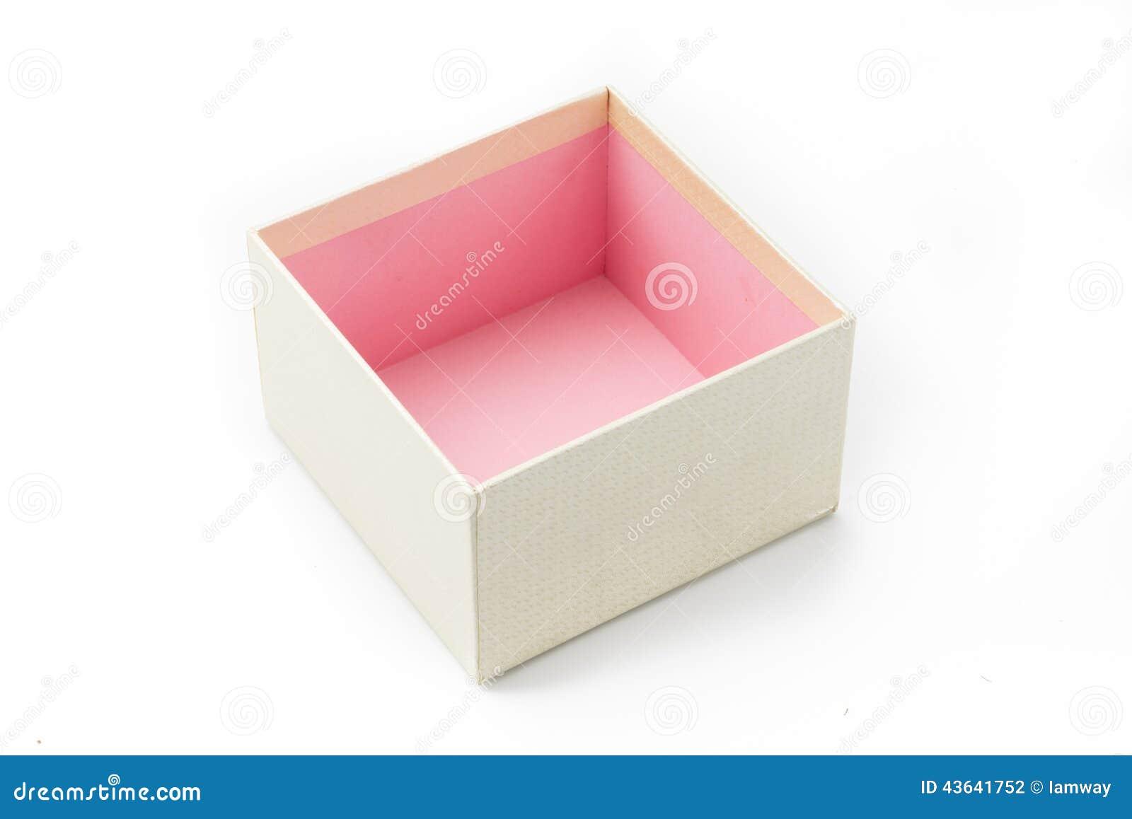download bote cadeau vide sans couleur rose actuelle lintrieur photo stock