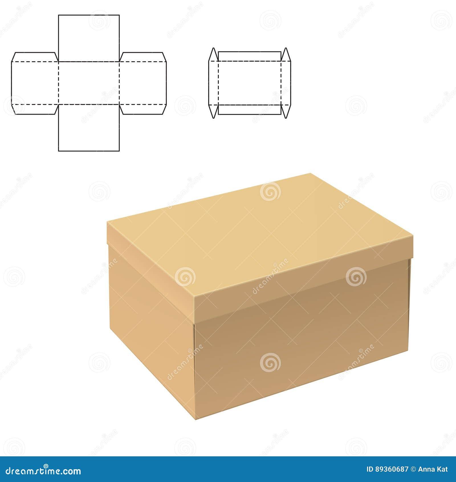Boîte claire de carton