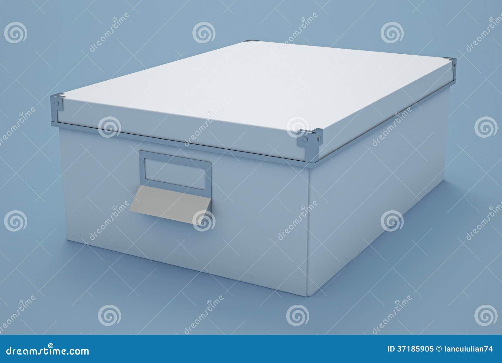 boîte de rangement blanche de carton illustration stock