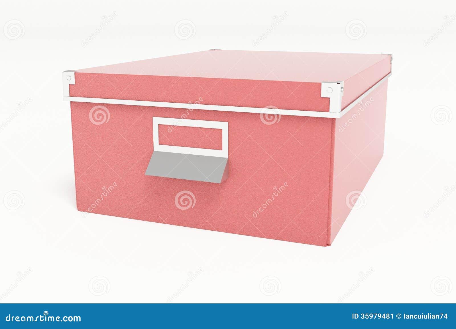 bo te de rangement rouge de carton. Black Bedroom Furniture Sets. Home Design Ideas