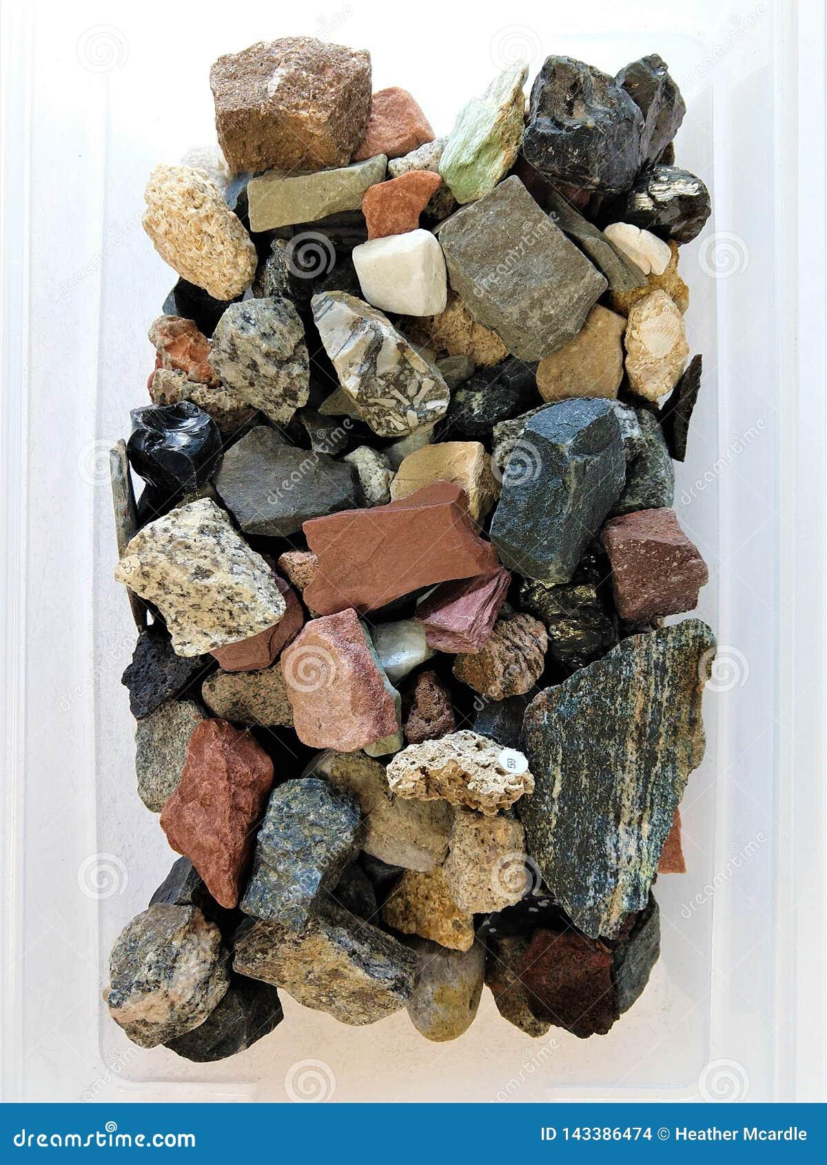 Boîte de vue aérienne de roches