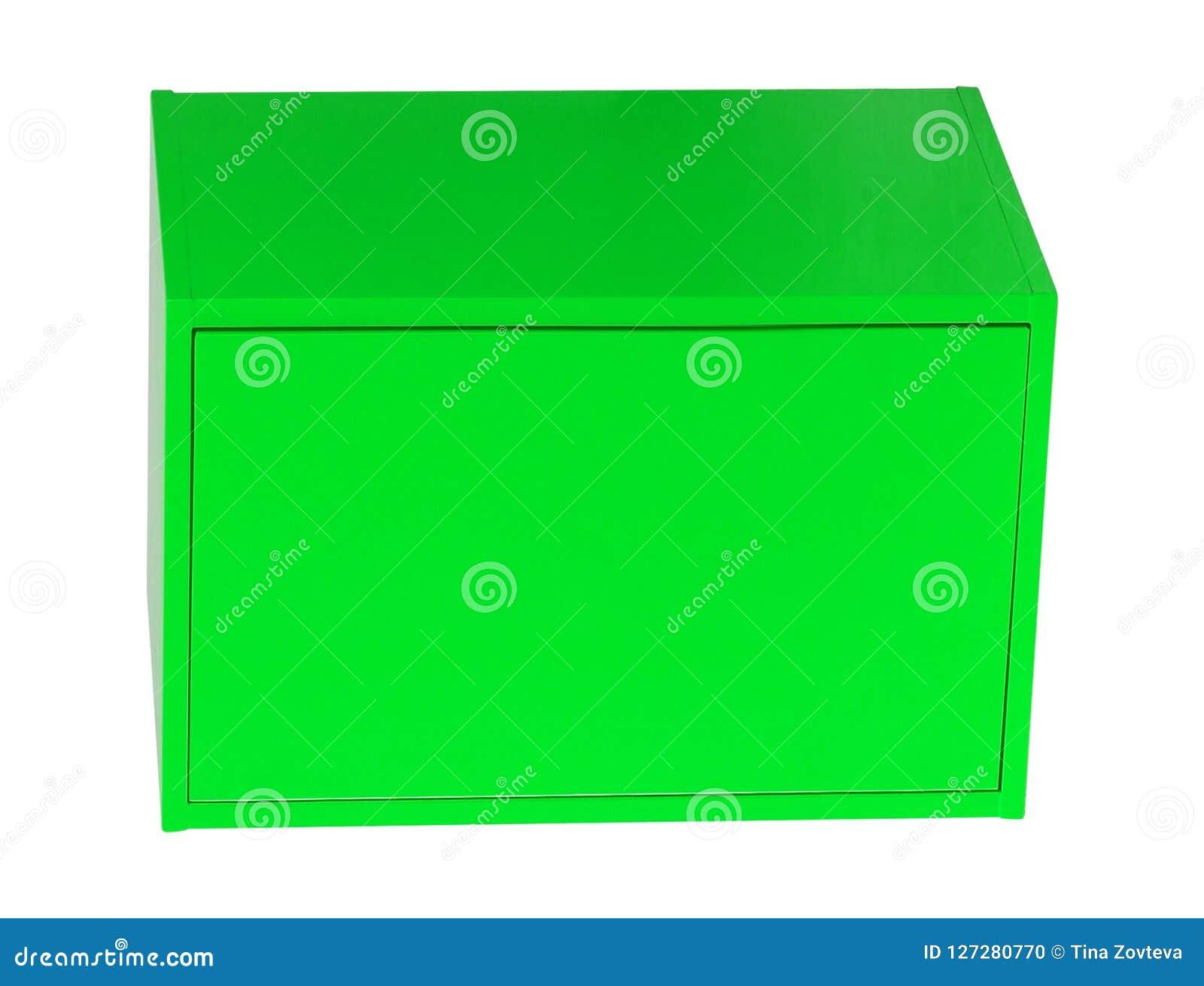 Boîte en acier d isolement sur le blanc