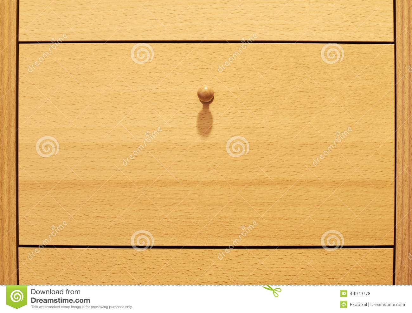 Boite En Bois De Tiroir Avec Une Poignee Photo Stock Image Du
