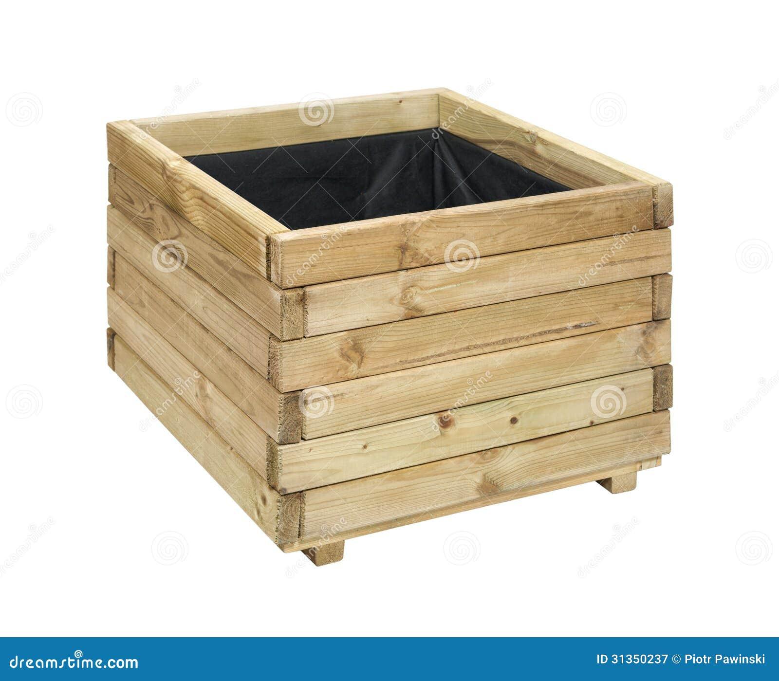 bo te en bois pour des fleurs image stock image du cadre conteneur 31350237. Black Bedroom Furniture Sets. Home Design Ideas