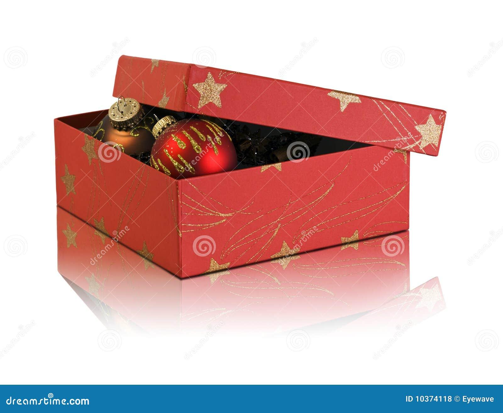 Bo te en carton avec la d coration de no l photos libres de droits image 1 - Decoration boite carton ...