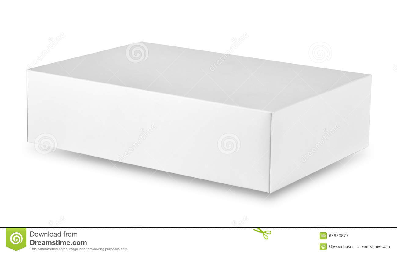 bo te en carton rectangulaire blanche ferm e photo stock image 68630877. Black Bedroom Furniture Sets. Home Design Ideas