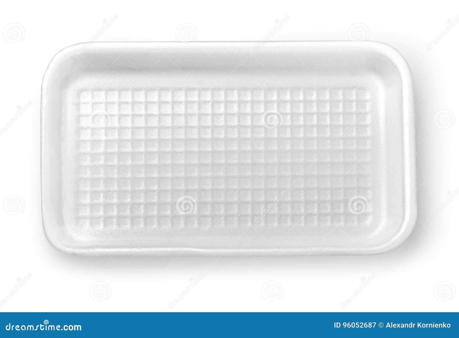 Boîte en plastique à nourriture d isolement