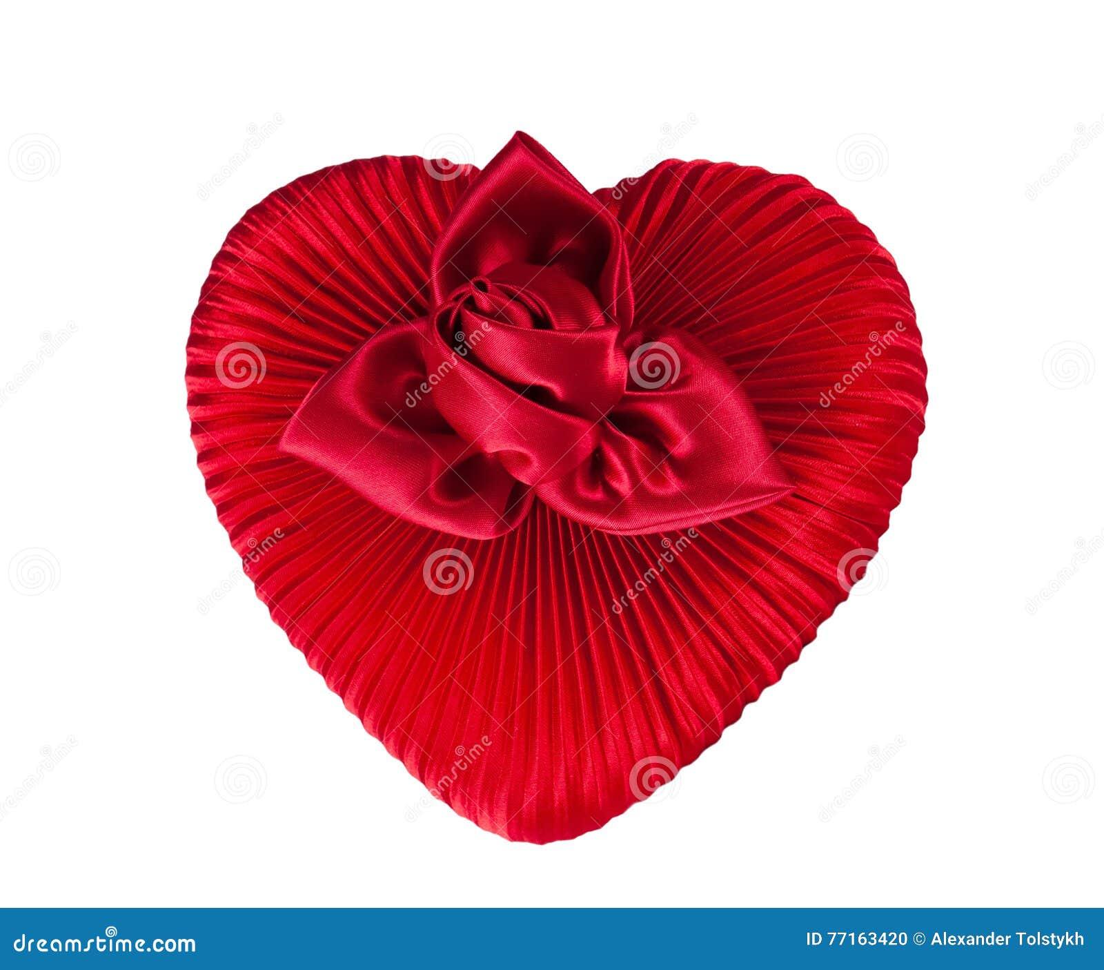 Boîte rouge de coeur