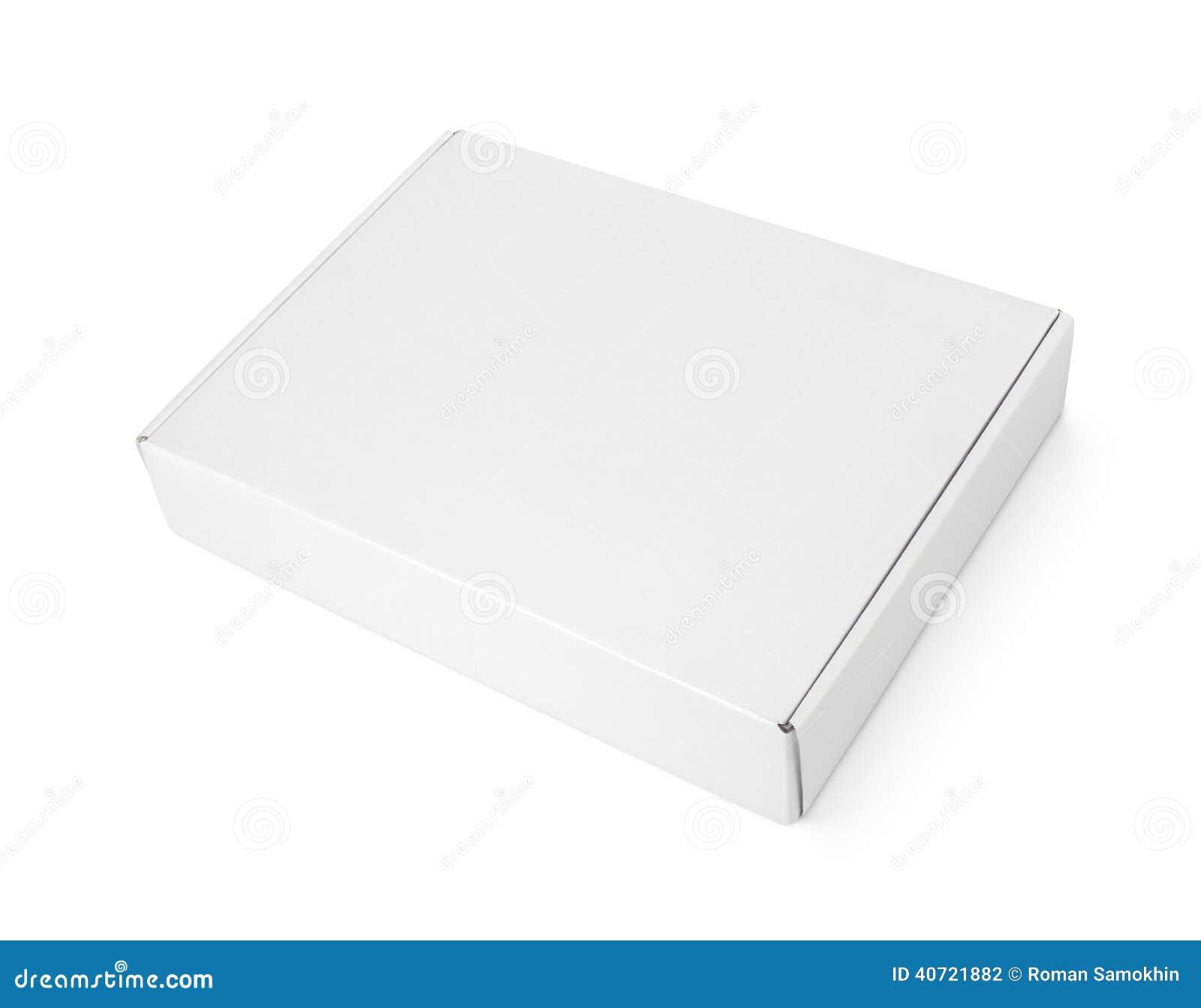 Boîte Vide Blanche à Pizza De Carton Photo stock Image du