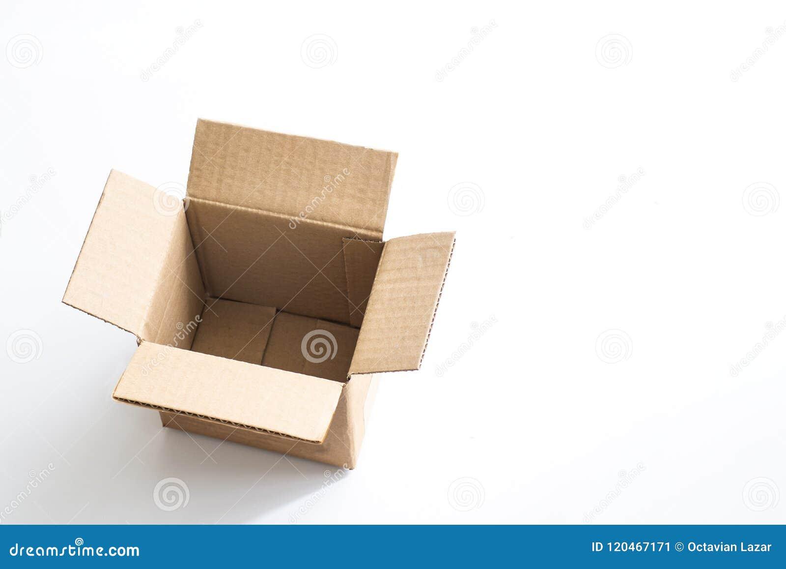 Boîte vide de cartboard