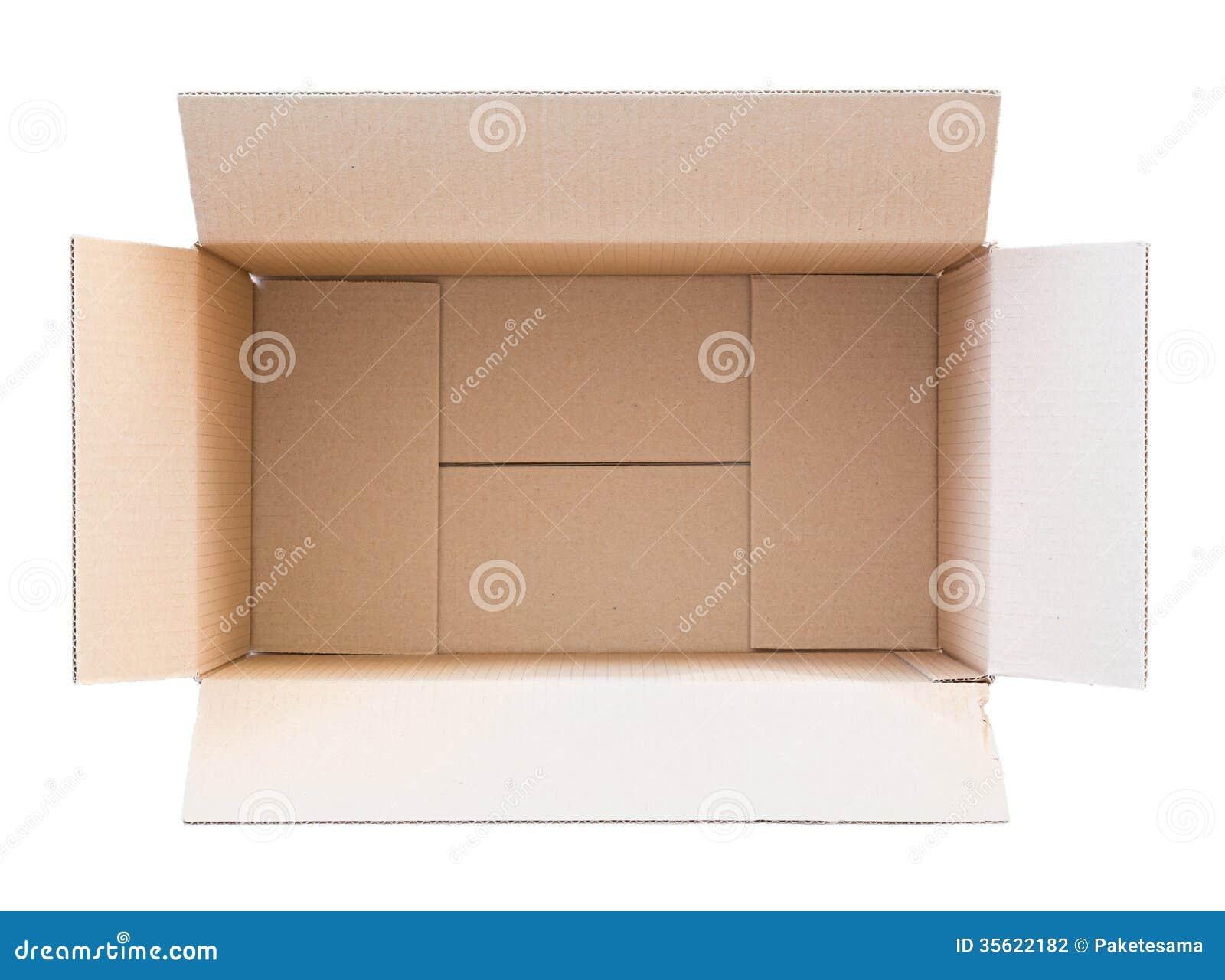 Boîte vide de carton photo stock. Image du paquet, personne