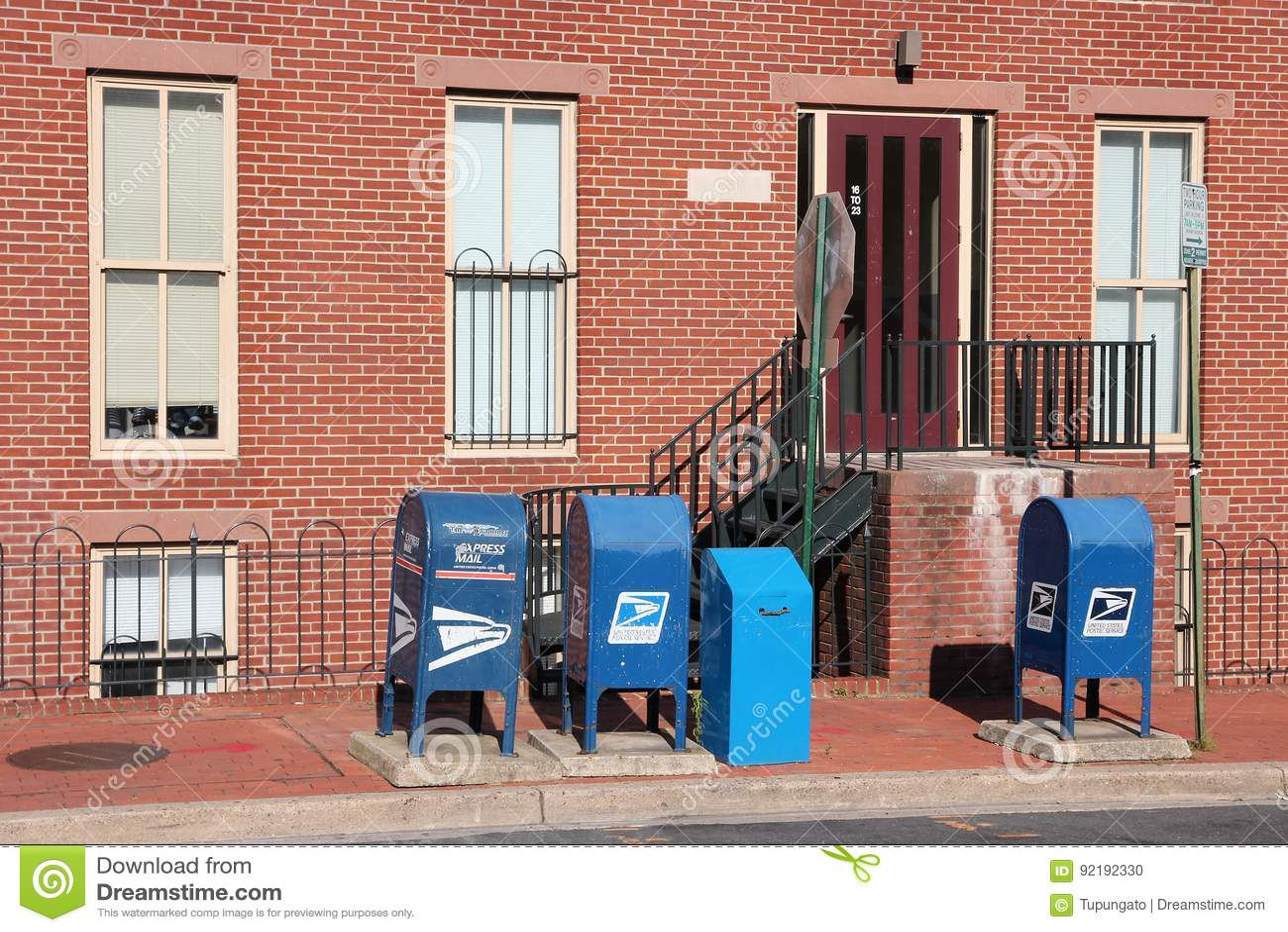 Boîtes de courrier des USA