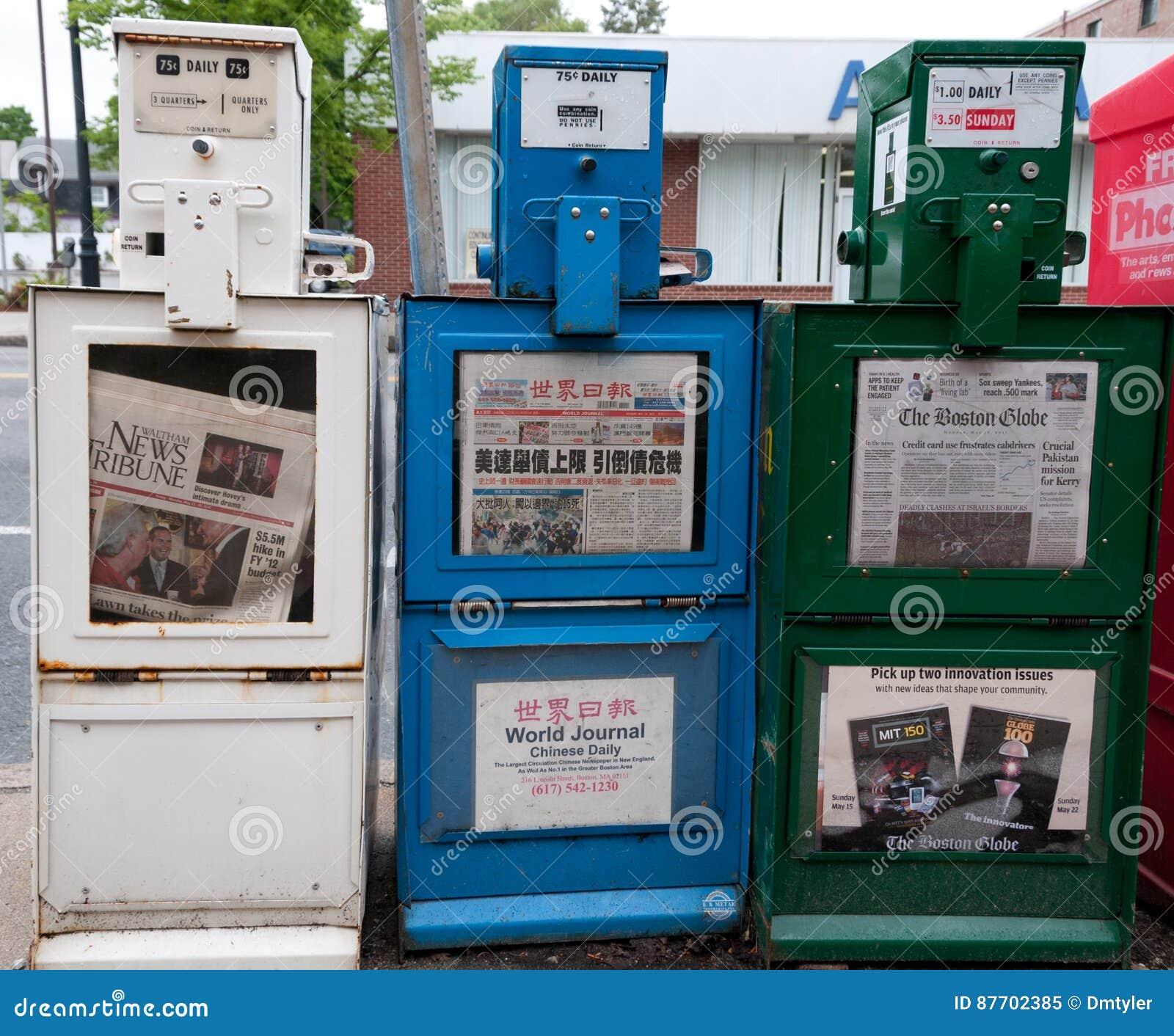 Boîtes de journal en Waltham le Massachusetts