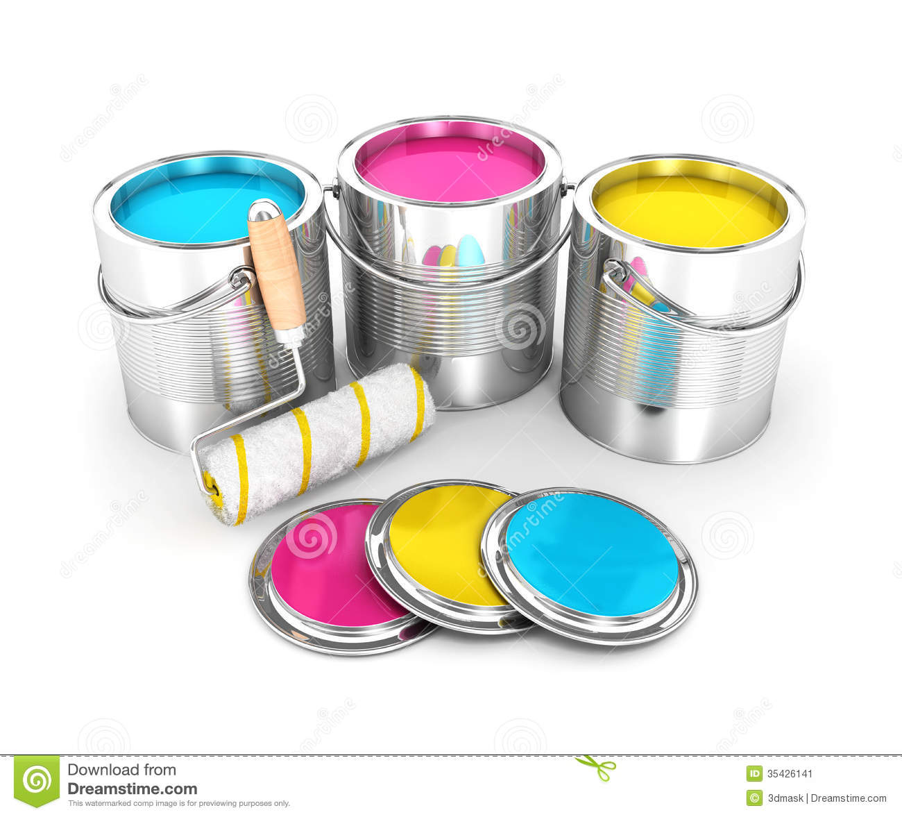 Paint Brushes Cans