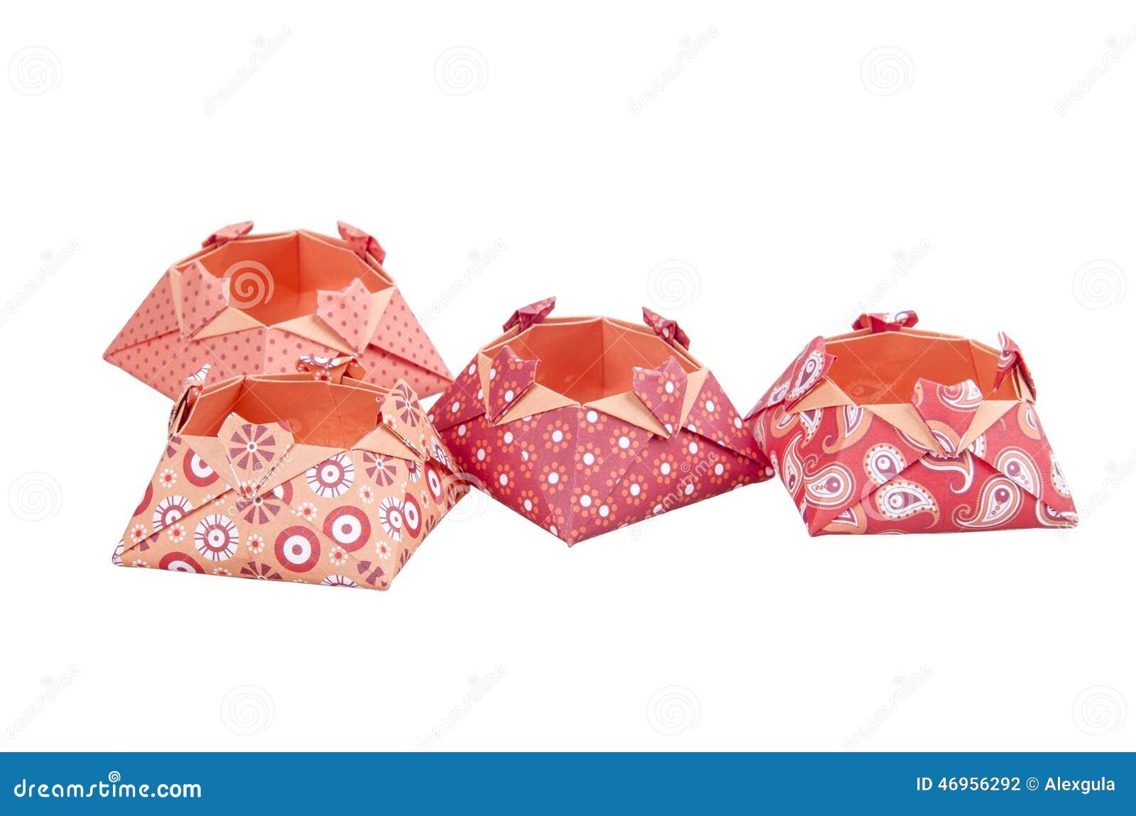 boîtes de papier d'amour d'origami, boîte-cadeau d'isolement photo