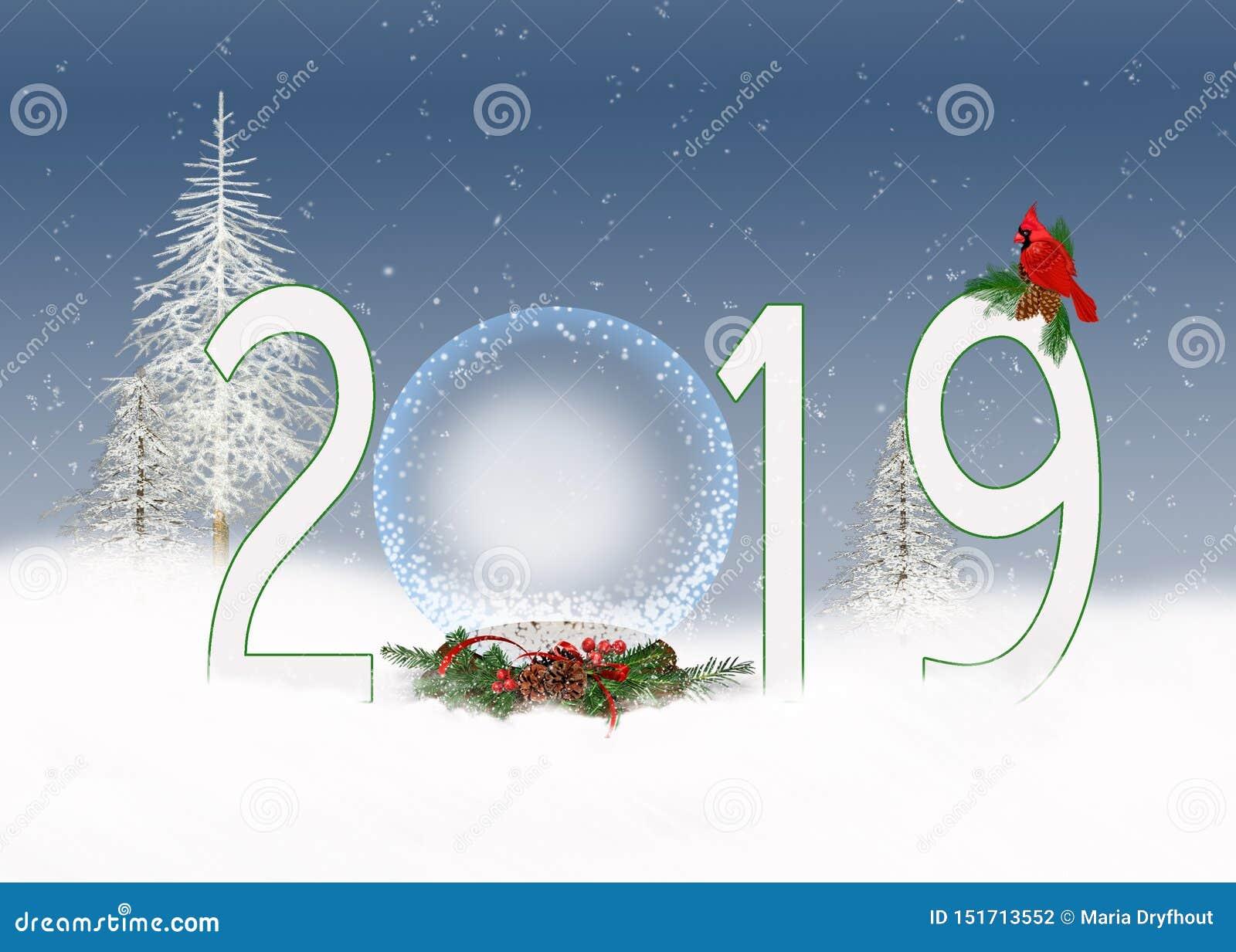 Boże Narodzenia 2019 śnieżnych kul ziemskich