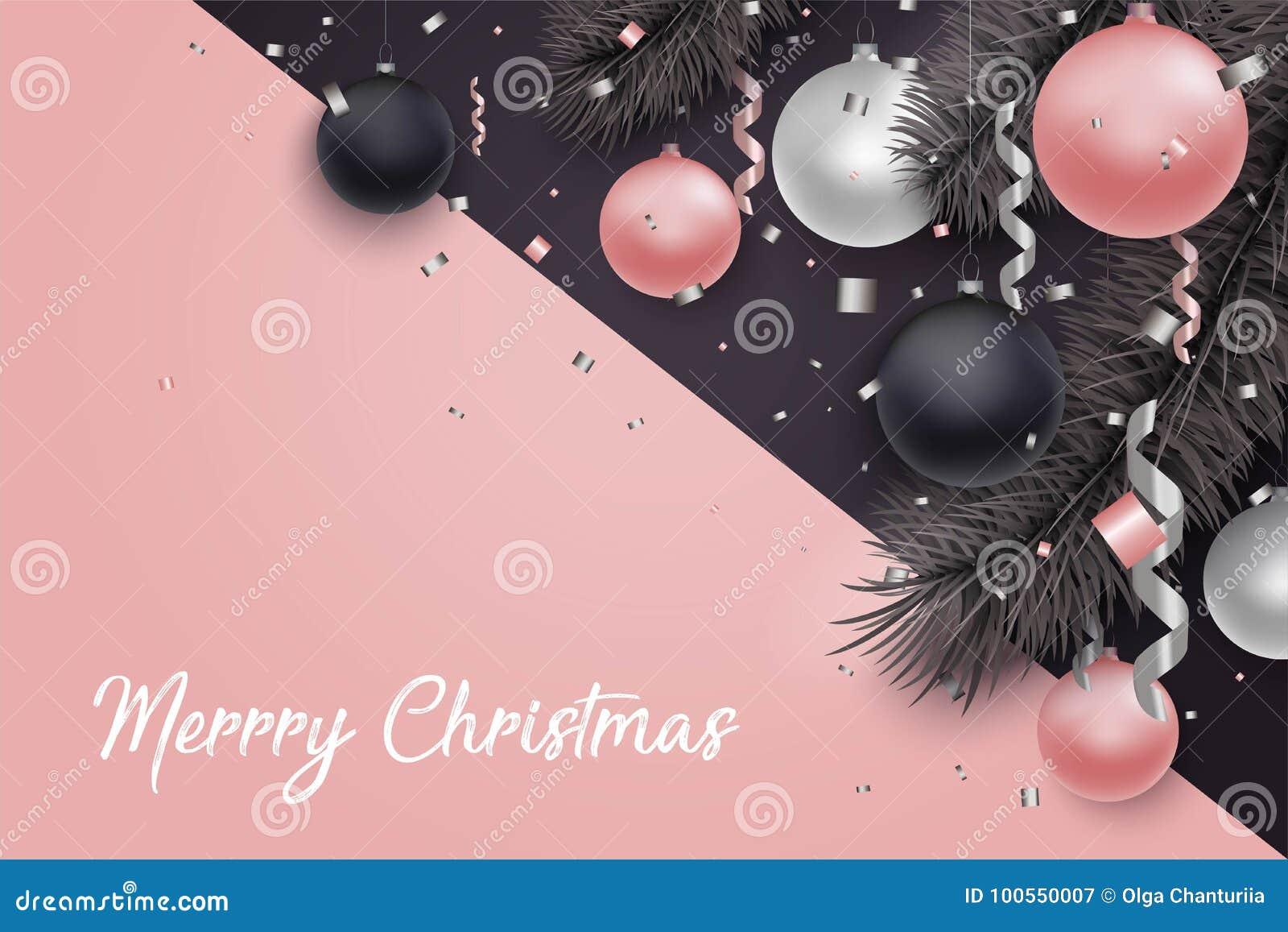 Boże Narodzenia i nowego roku tło z piłkami