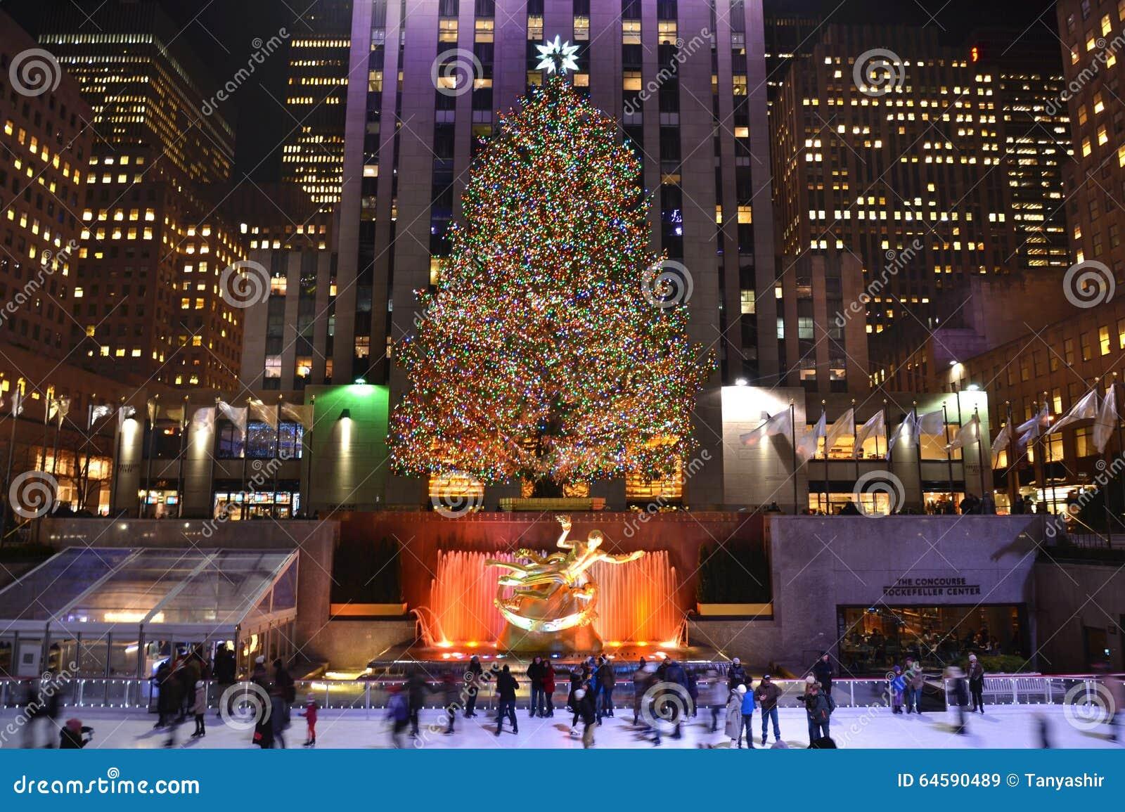 Boże narodzenia nowy drzewny York