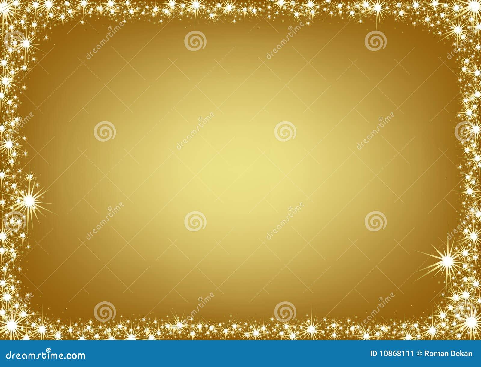 Boże narodzenia obramiają złotego