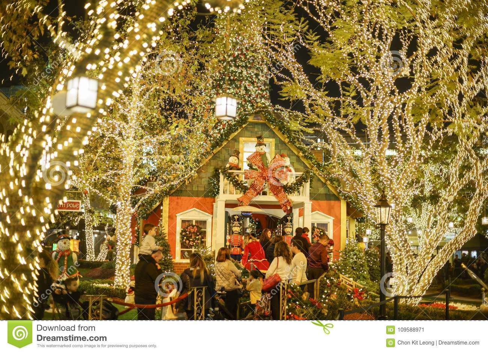 Boże Narodzenia przy zakupy centrum handlowym, Glendale Galleria