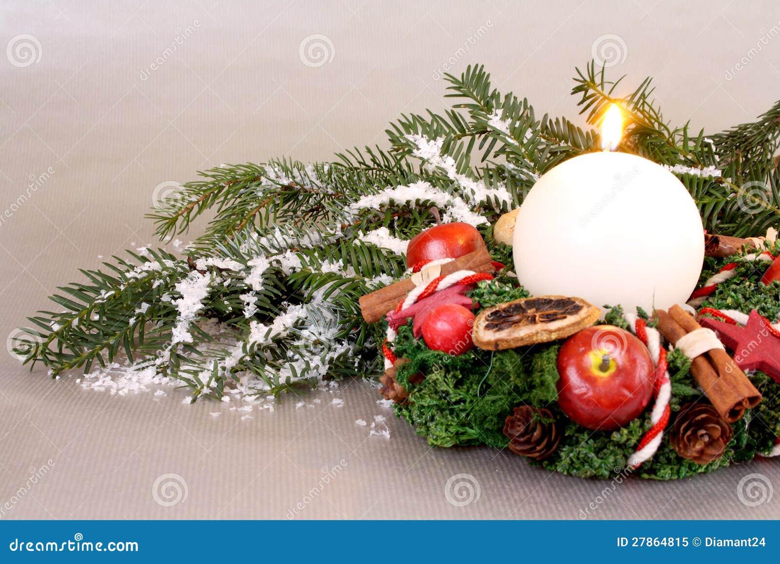 Boże Narodzenia wreath z świeczką