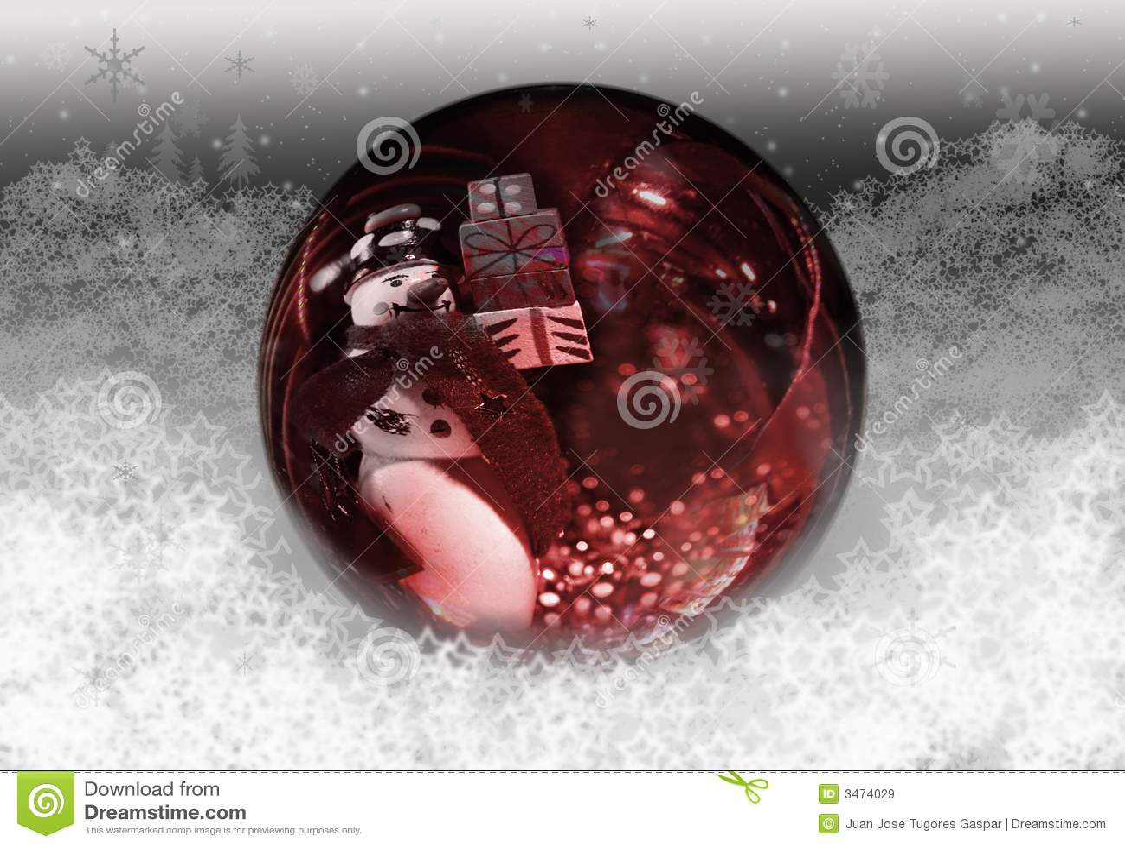 Boże narodzenie globe śnieg